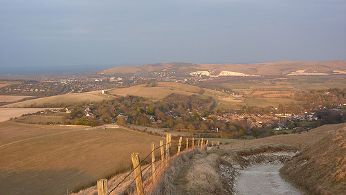 The view at the top of the downs, looking over kingston and lewes beyond.