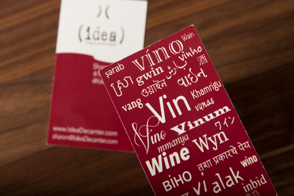 Wine Translations on our Business Cards