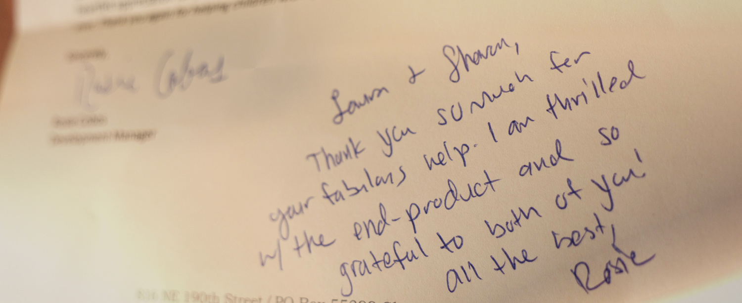 It's always great to get a heartfelt thank you when a project is complete!