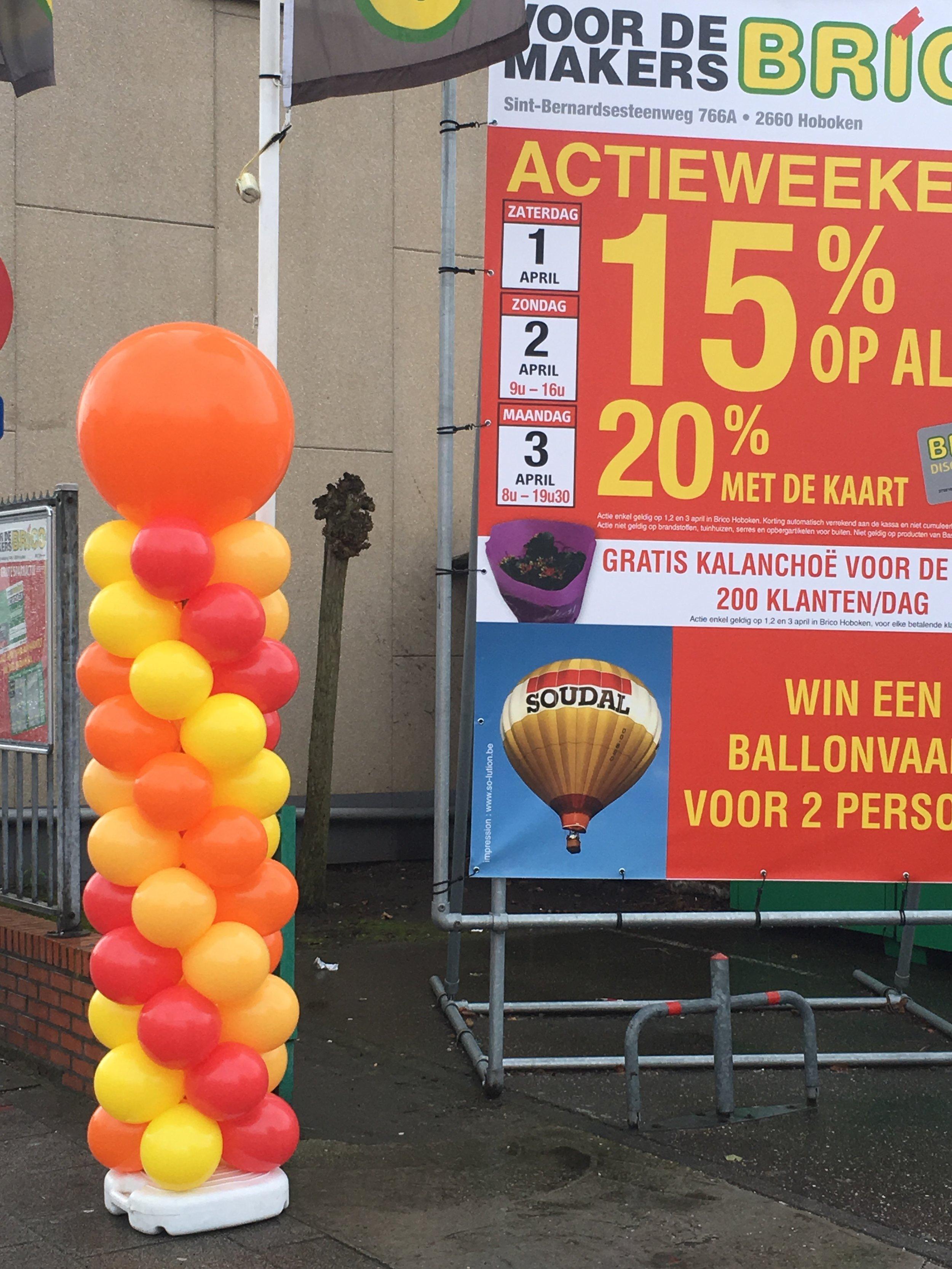 ballonnenpilaar huren Antwerpen