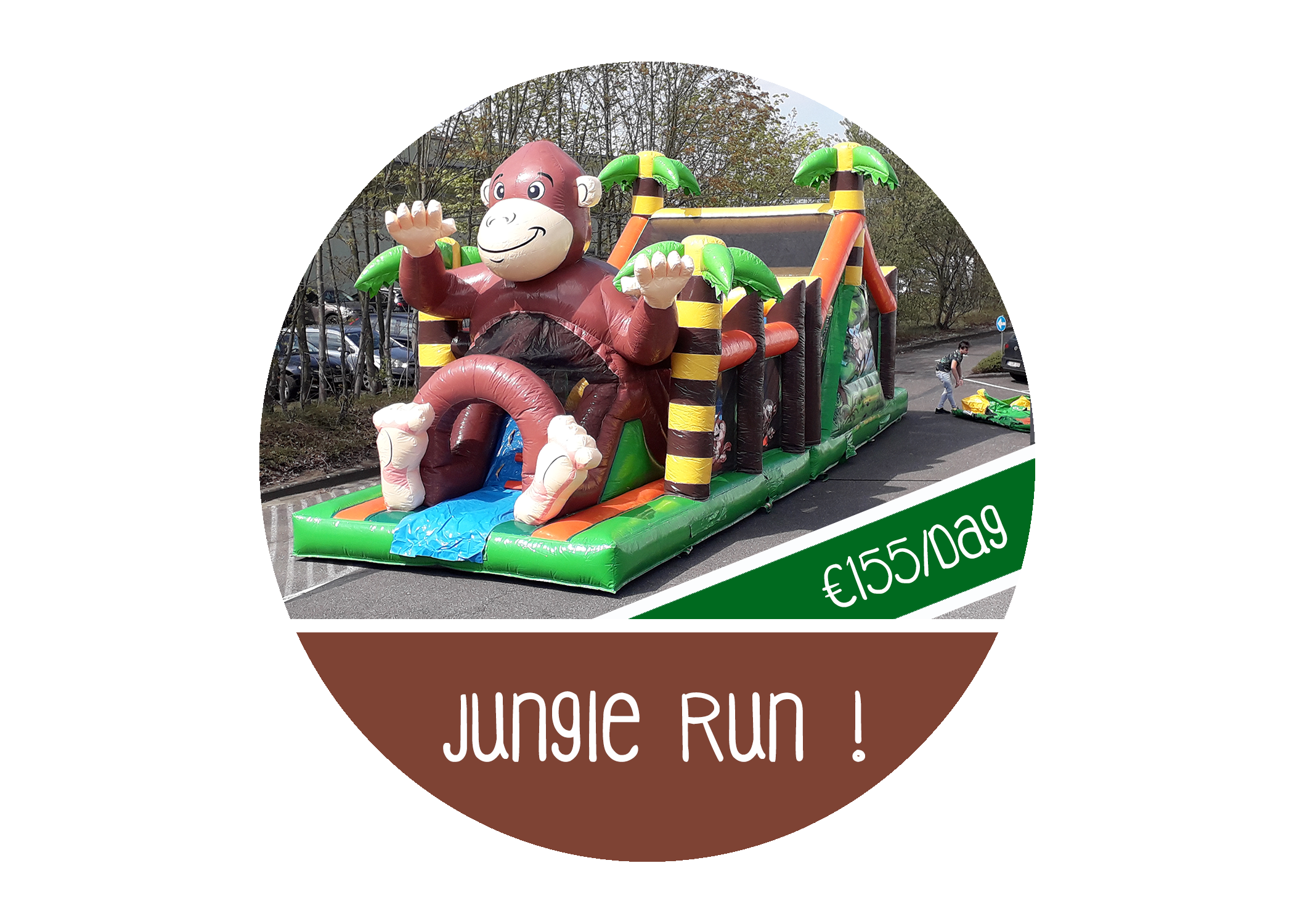 Jungle run hindernissenbaan huren antwerpen