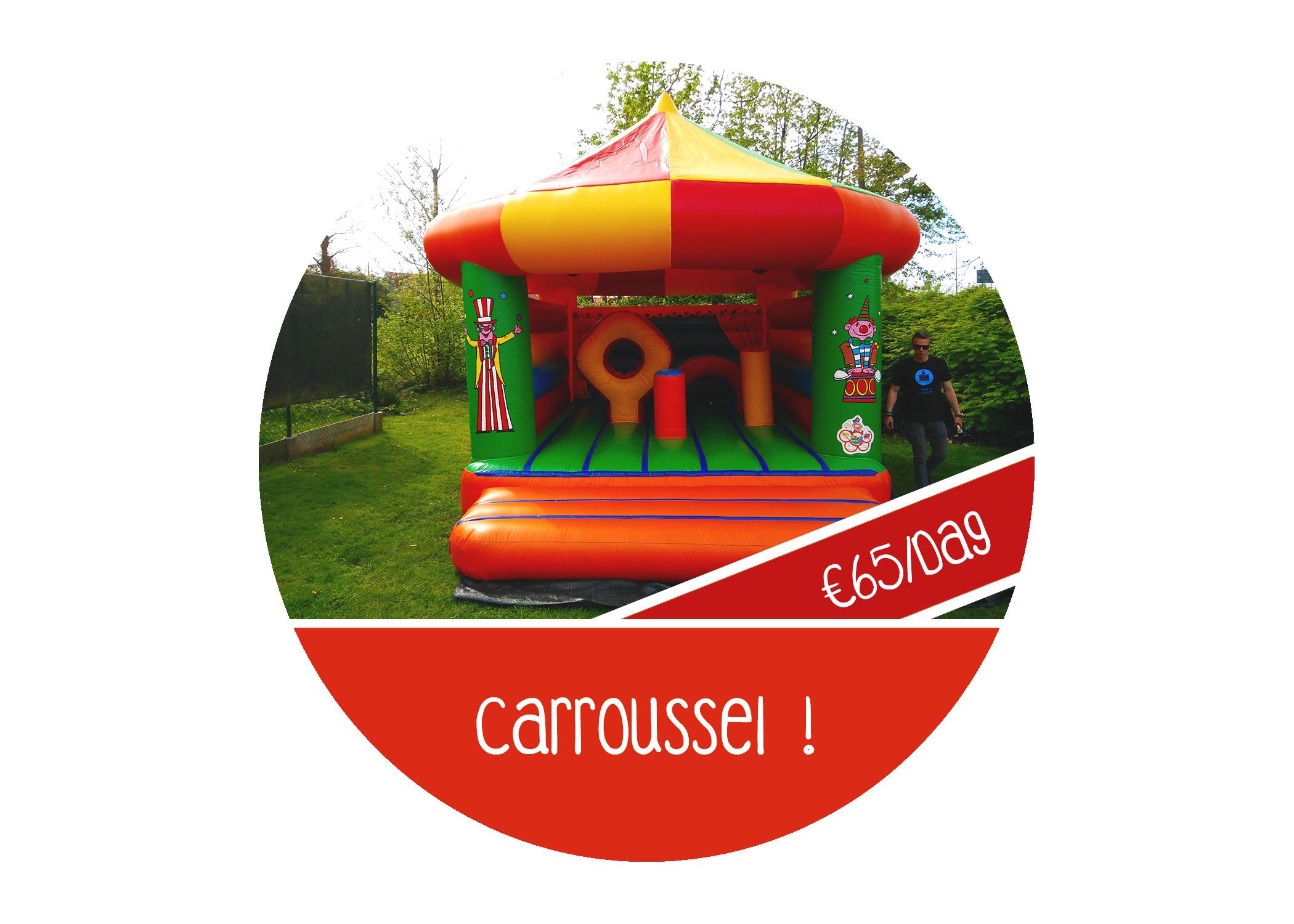 Springkasteel+carroussel+huren+circus