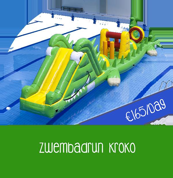 zwembadattractie huren krokodil zwembadspel huren