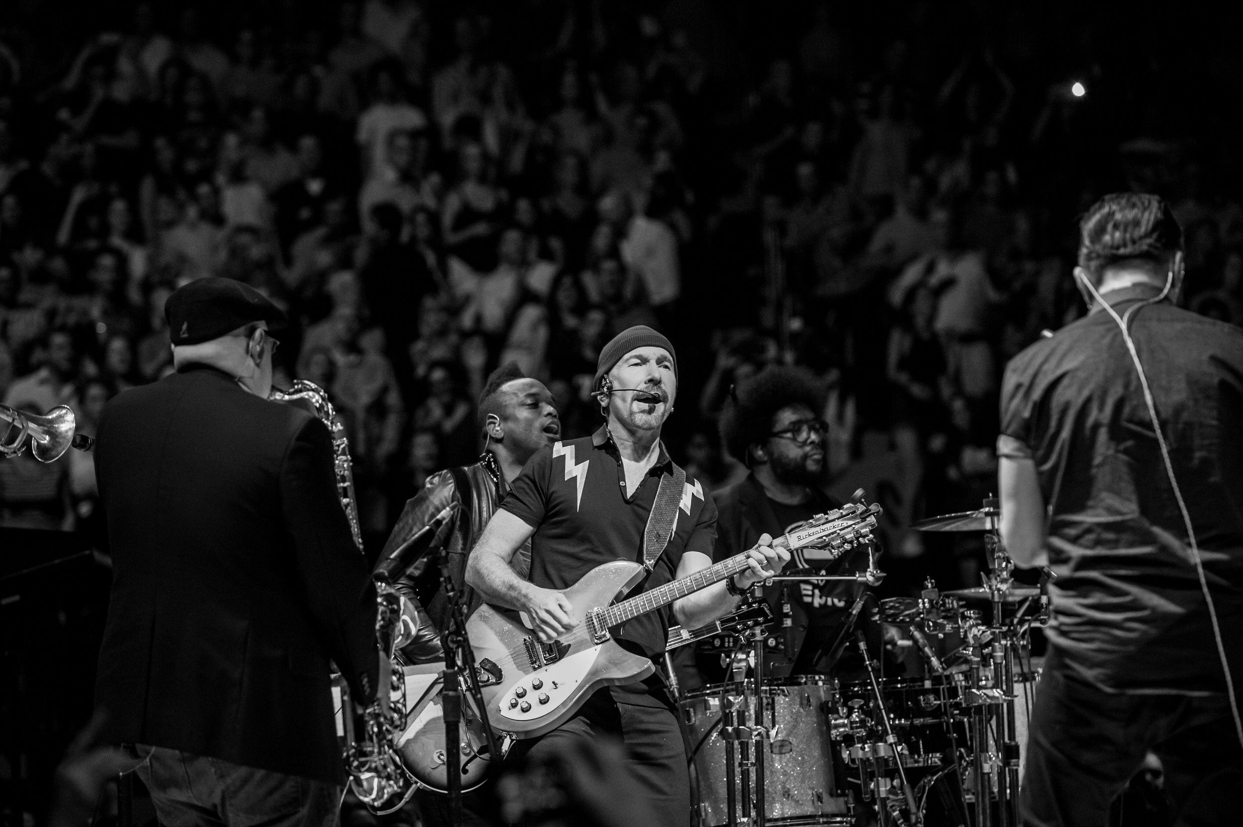 With U2 & The Roots, July, 2015, Madison Square Garden. Photo by  Ken Goodman