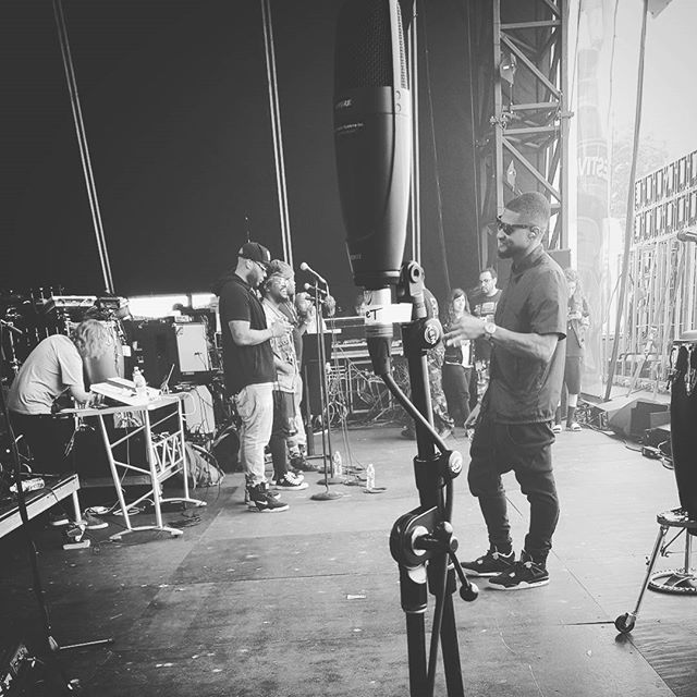 Eeeeeeearly morning soundcheck with #theroots & #usher for the #rootspicnic in Philly tonight. Gonna be smokin! #lovemyjob