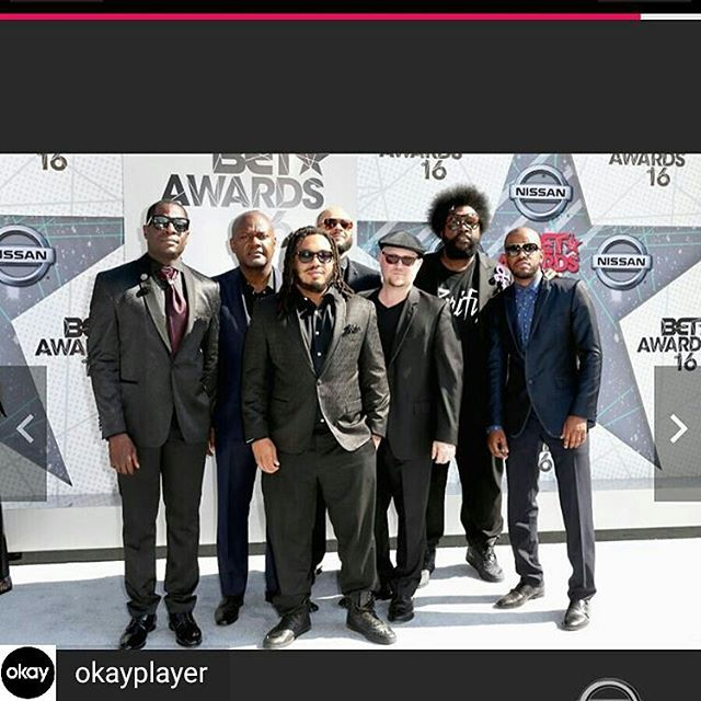 BET Awards with #theroots in LA over the weekend! RIP Prince. Regram from @okayplayer