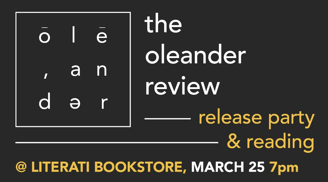Oleander Review Release Party & Reading