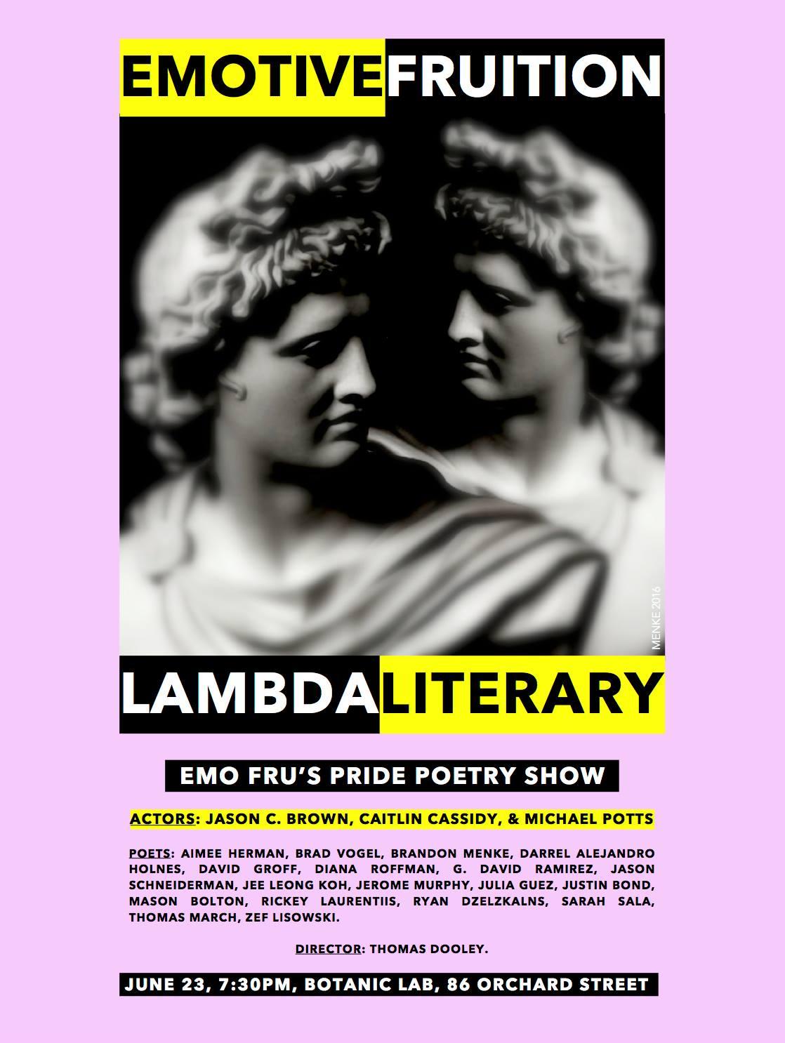 Emotive Fruition & Lambda Literary