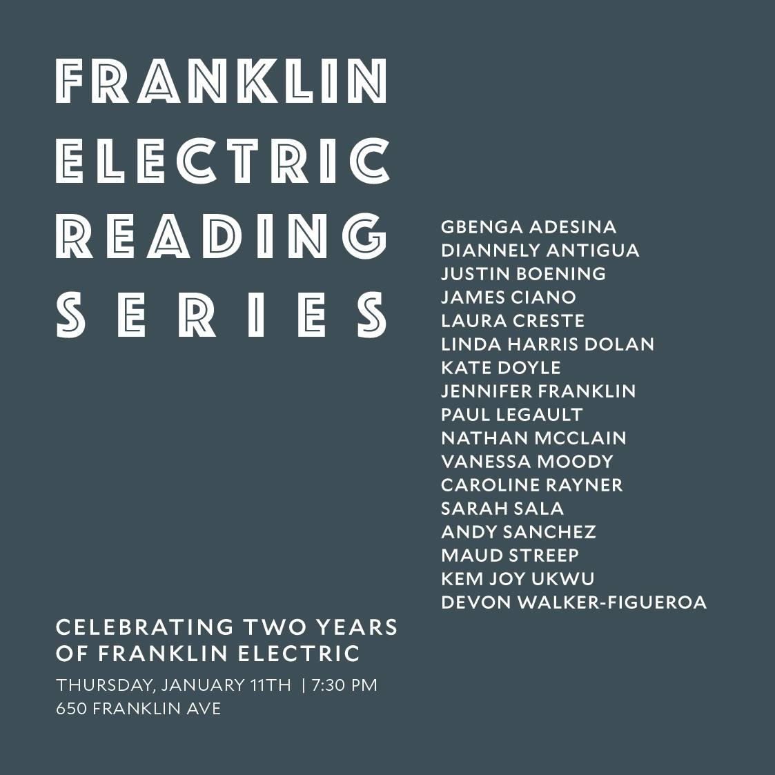 Franklin Electric Reading Series Reunion Reading
