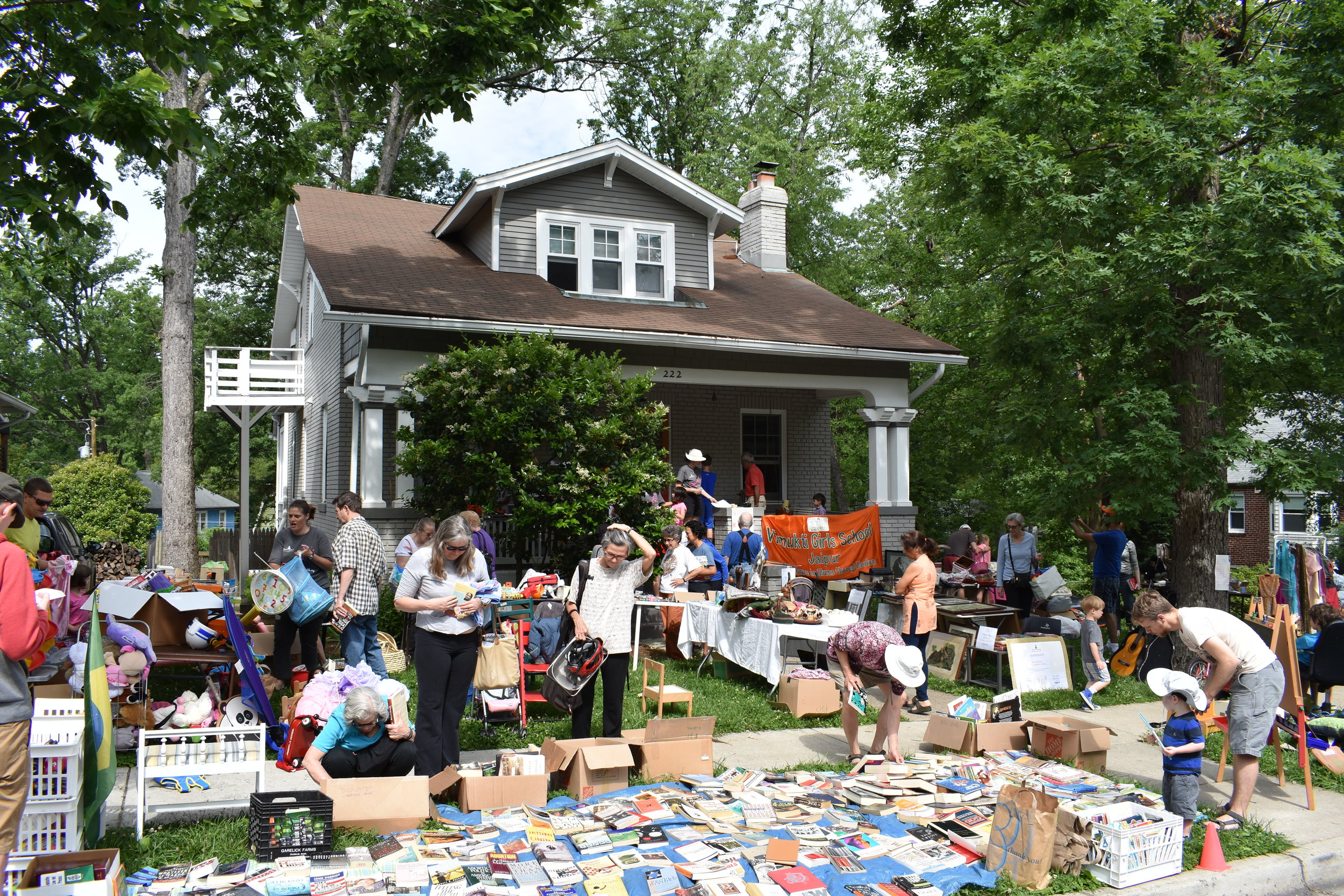 Come to our annual yard sale! - May 12, 10 AM 4 PM222 Park Ave, Takoma Park MD 20912