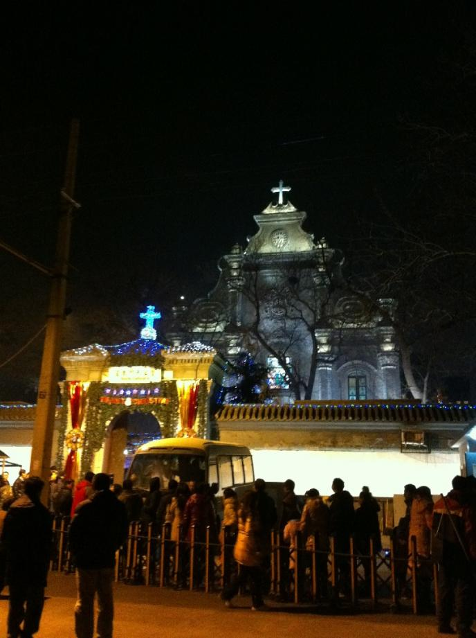 On Christmas eve, a long, long line snakes out of this church in the city center. This line is at least 300 people deep. Is this a sign of China becoming more religious, or are we reading too much into it? Something tells me most Chinese just feel it's interesting to visit a church on Christmas eve.