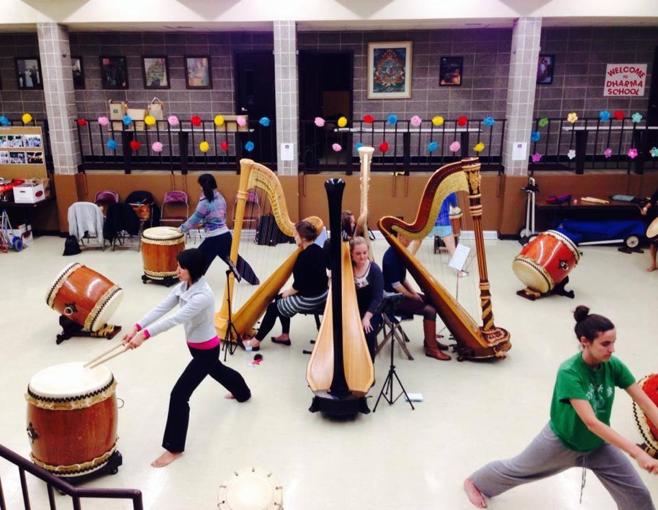 AWAKENING Workshop w/ Ho Etsu Taiko & Chicago Harp Quartet