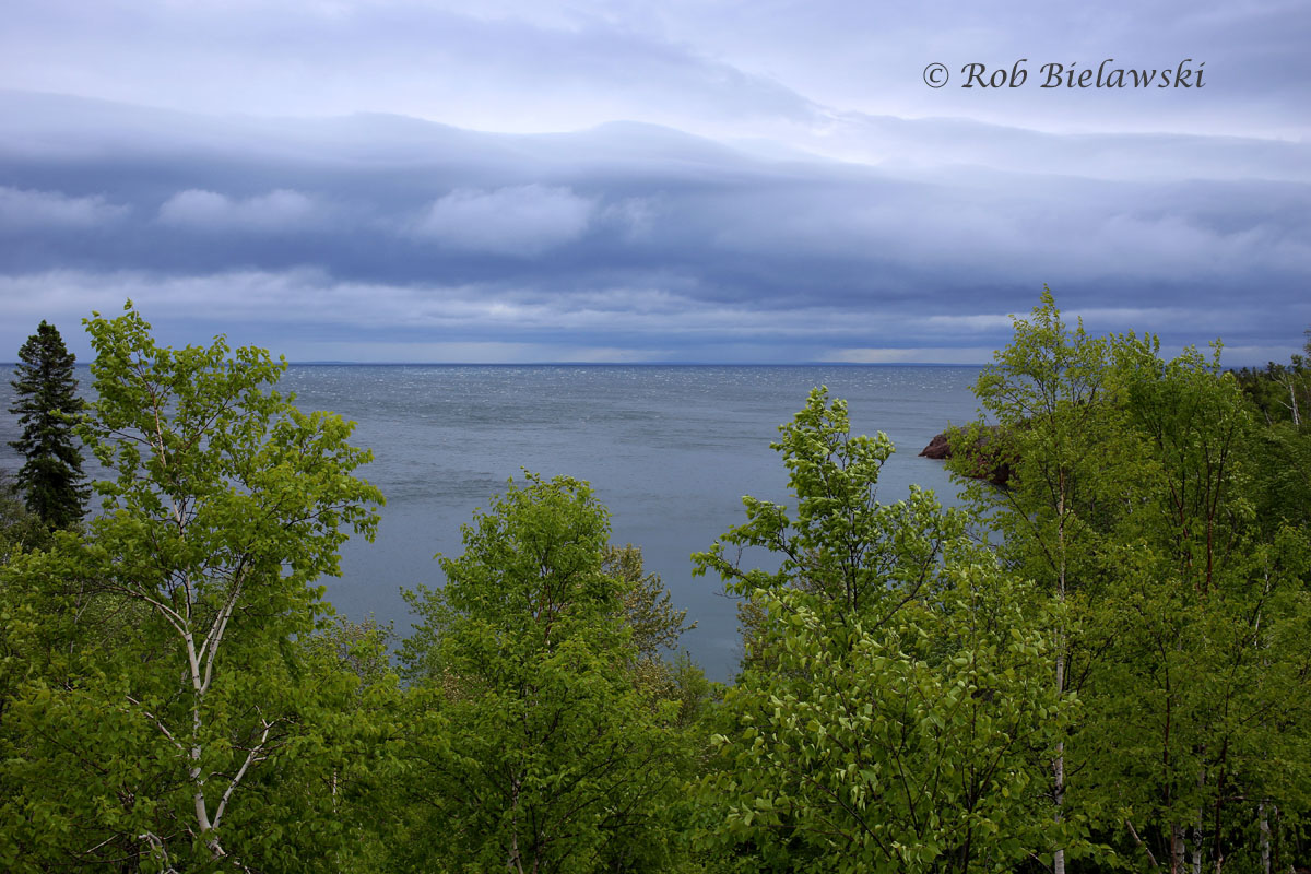 The turbulent storm rolling across Lake Superior from Illgen City.