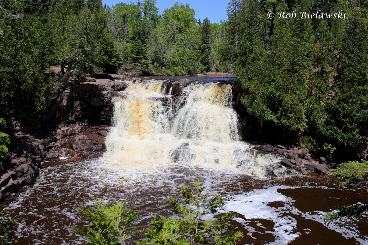 Gooseberry Falls along the north shore of Lake Superior flowing quite full from all the recent rains.