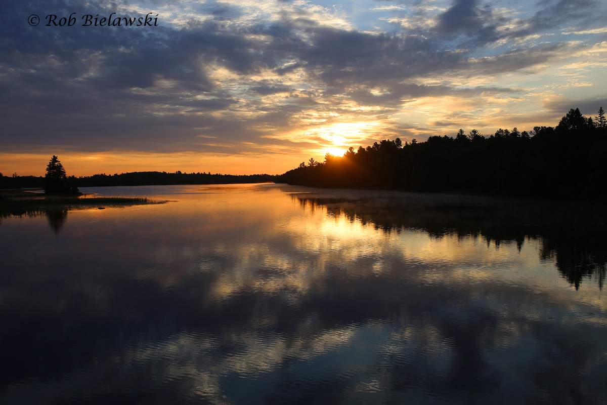 Ruth & I's farewell sunrise along the South Kawishiwi River while traveling southbound away from Ely, MN en route to Munster, IN!