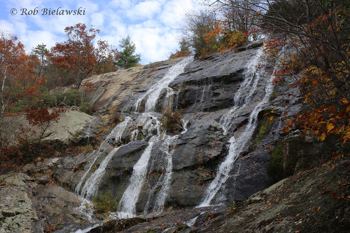 Water is still flowing quite well over Crabtree Falls near Montebello, VA!