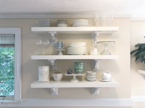 PS: If you ever want to test the strength of your marriage, have your husband hang these shelves himself…