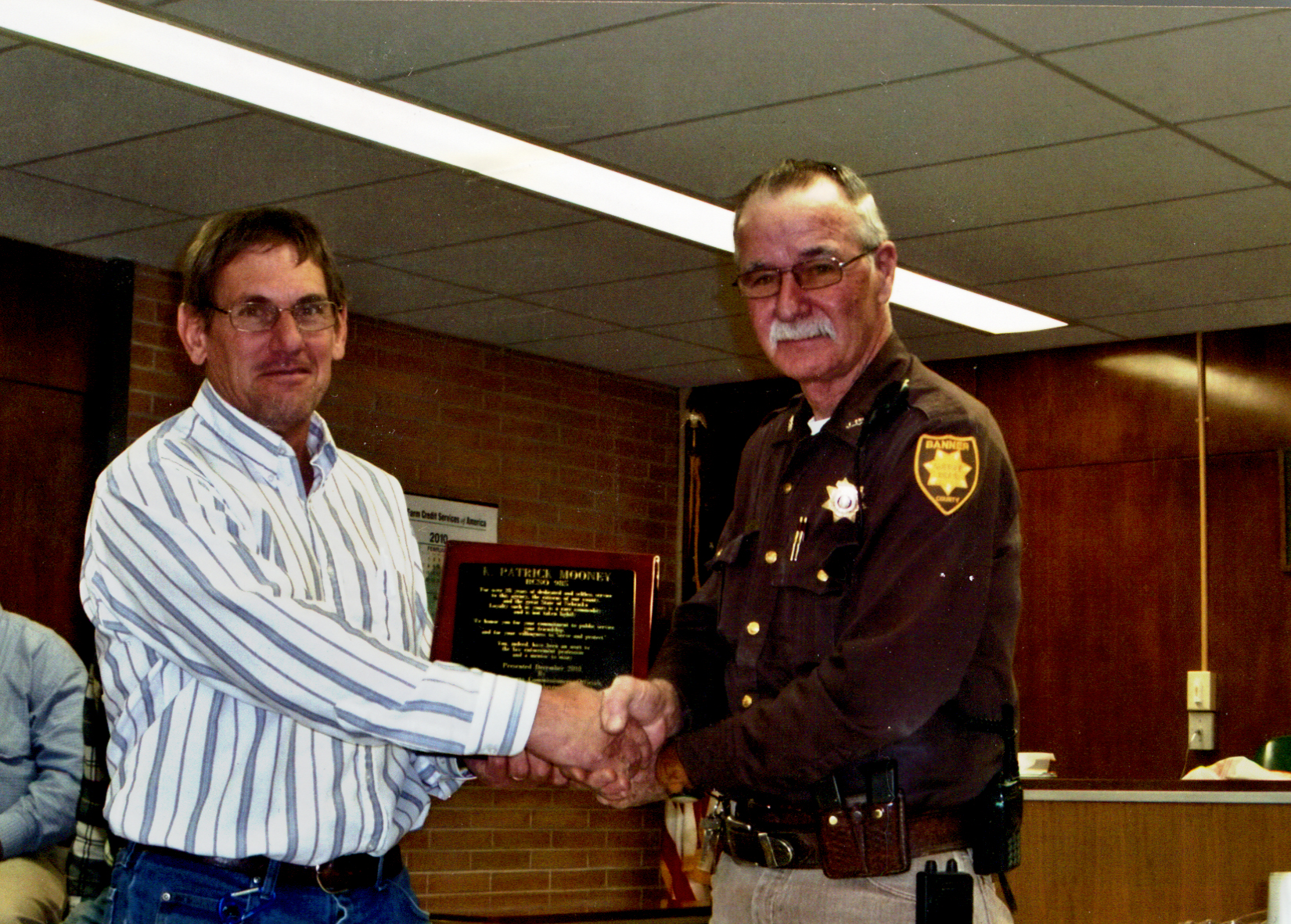 Bob Gifford Honors Sheriff Pat Mooney for 28 Years of Service