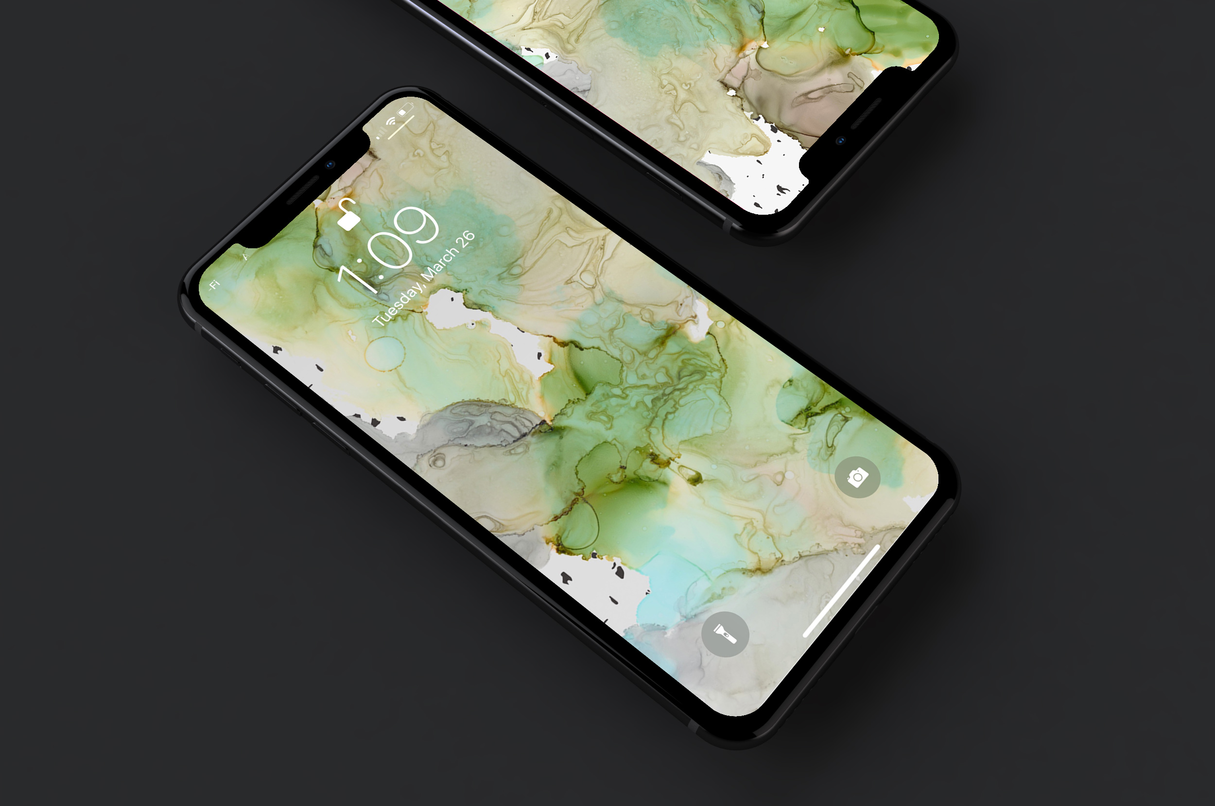 Fluid Wallpaper - Original art wallpaper formatted for iPhone X + similar devices