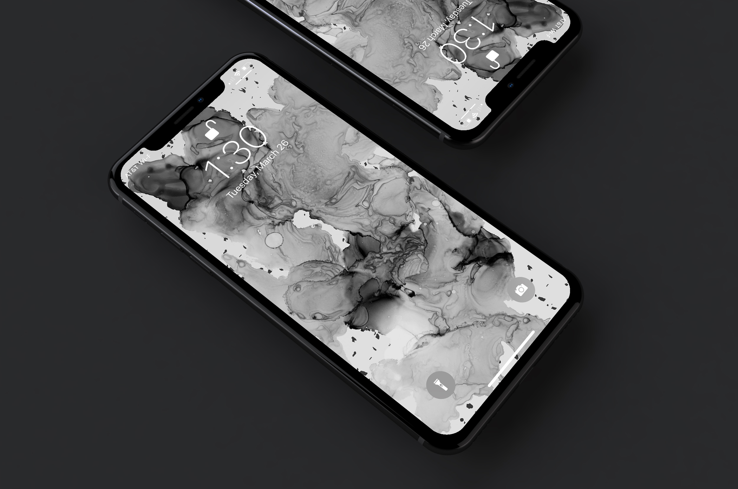 B+W Wallpaper - Original art wallpaper formatted for iPhone X + similar devices. Black and white version.