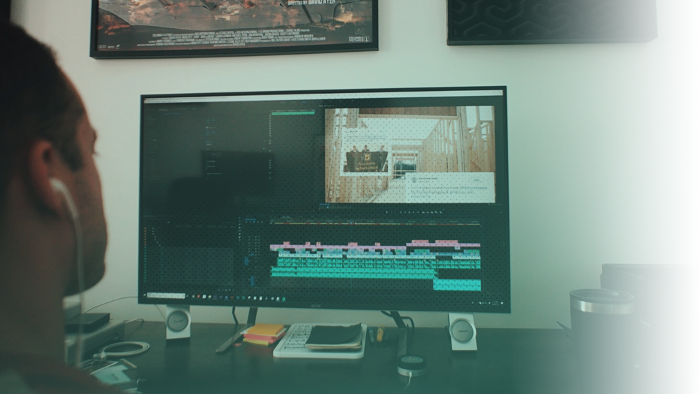 Post-Production - With terabytes of footage, audio, and graphics, we assemble at our edit bays to cut, craft motion design, color grade, score, and mix your project to end up with an original film you're sure to be happy with.