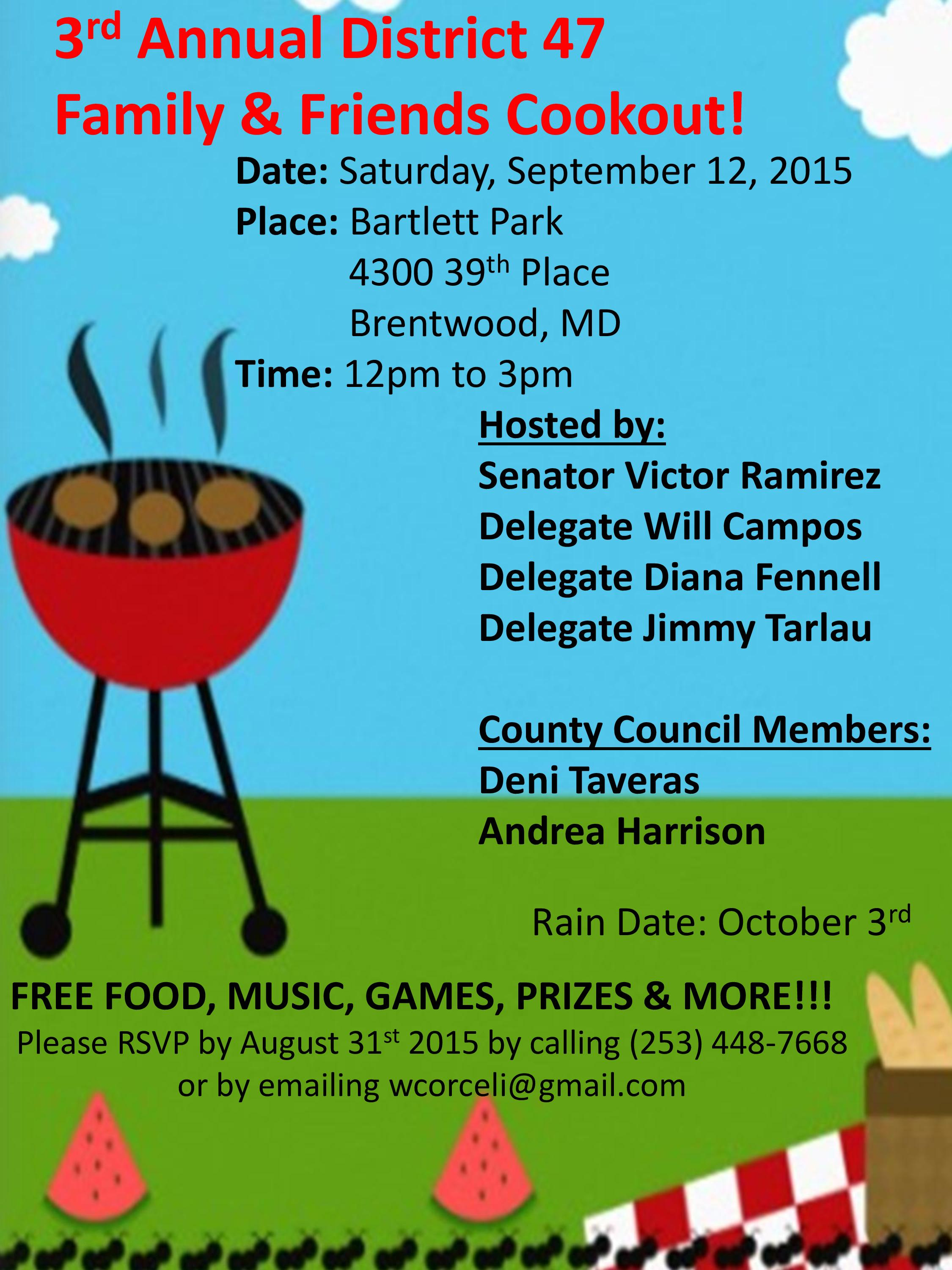 JOIN DELEGATE FENNELL & THE DISTRICT 47 TEAM NEXT SATURDAY 9/12 !