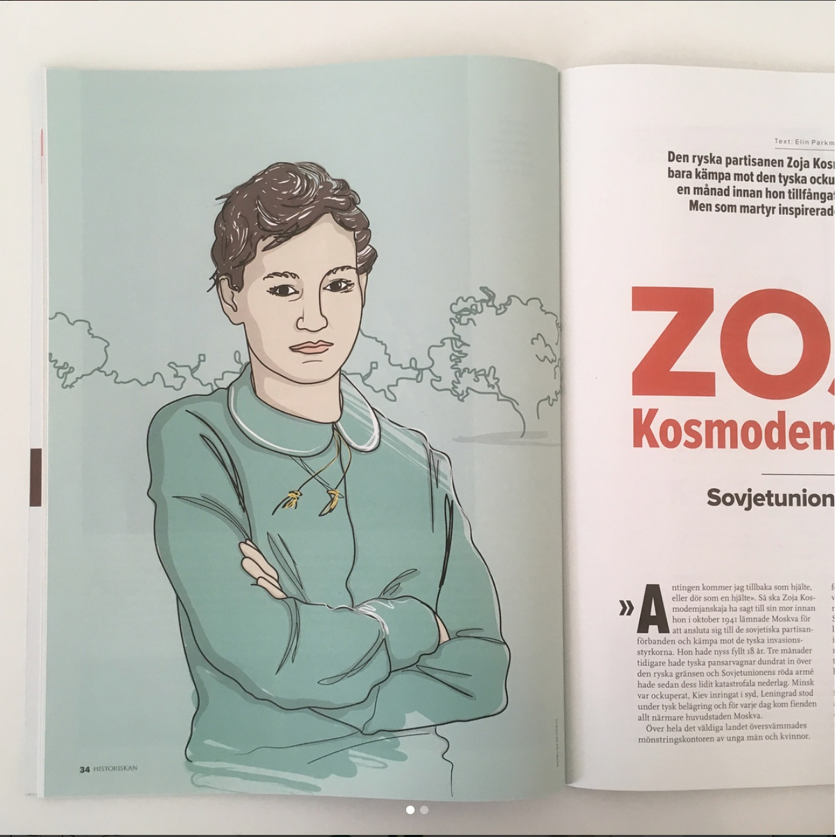 Portrait illustration for Historiskan