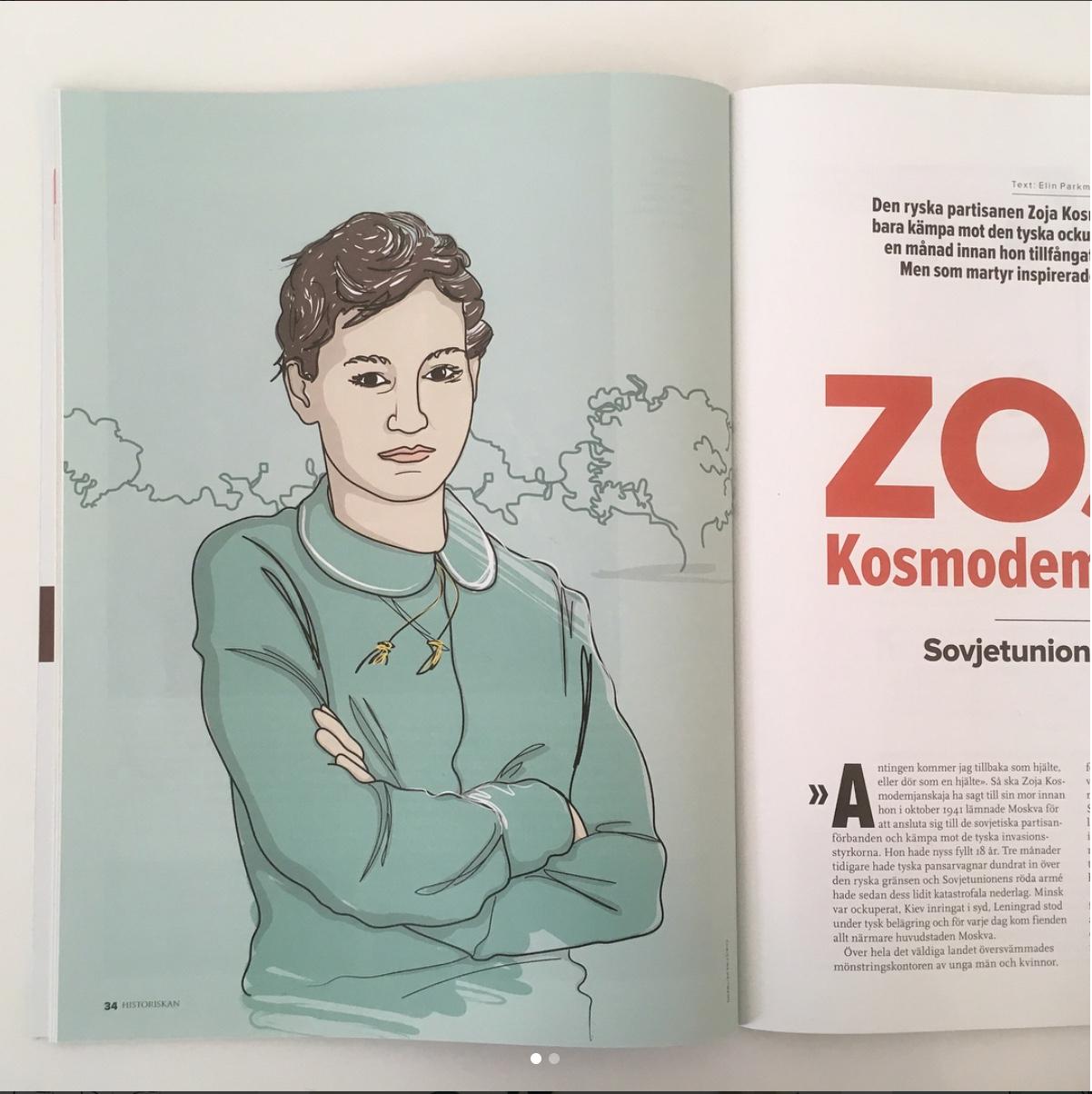 Portrait illustration for Historiskan