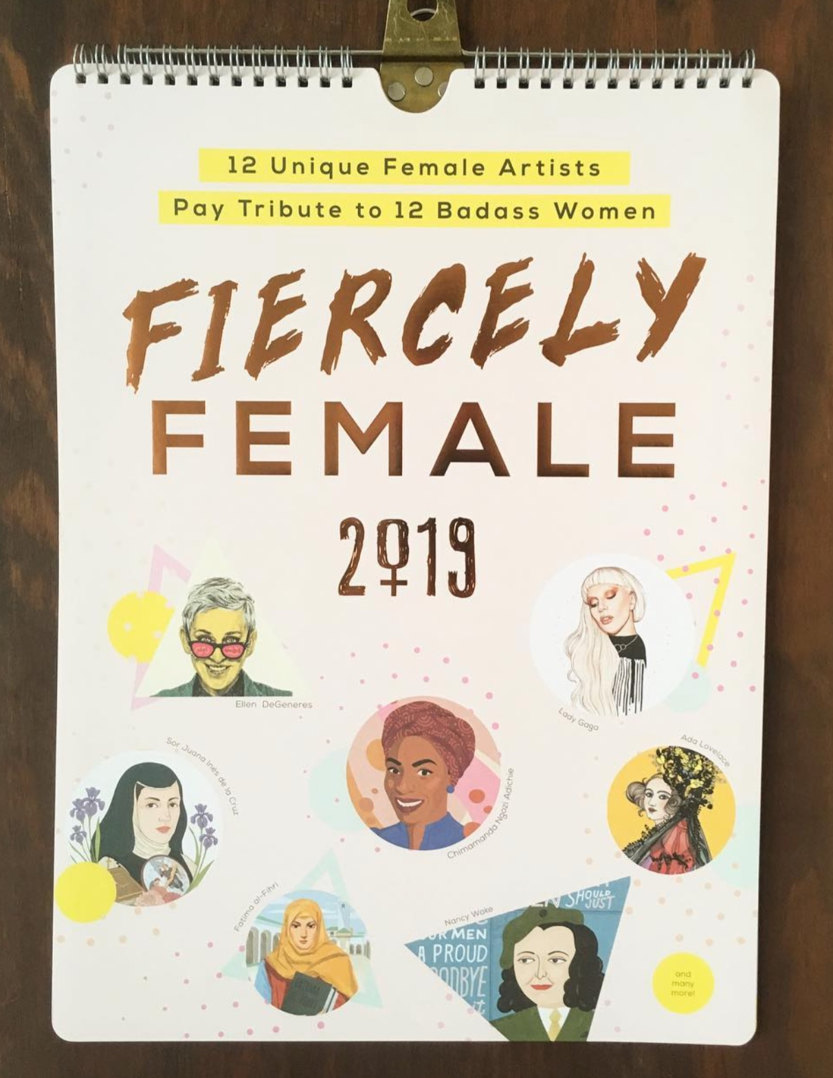 Fiercely Female Calendar 2019