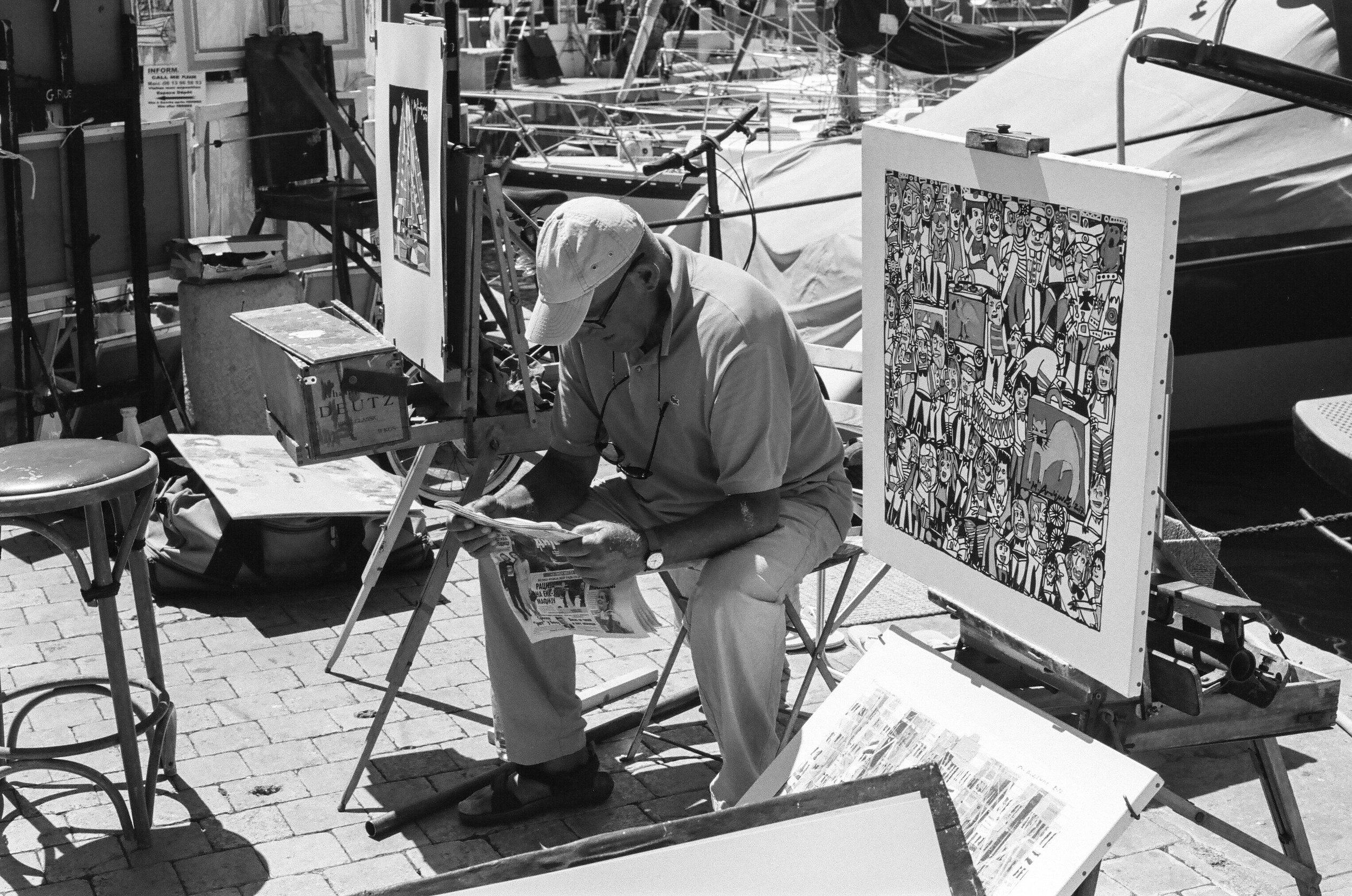 An artist, St. Tropez. France. 2017.