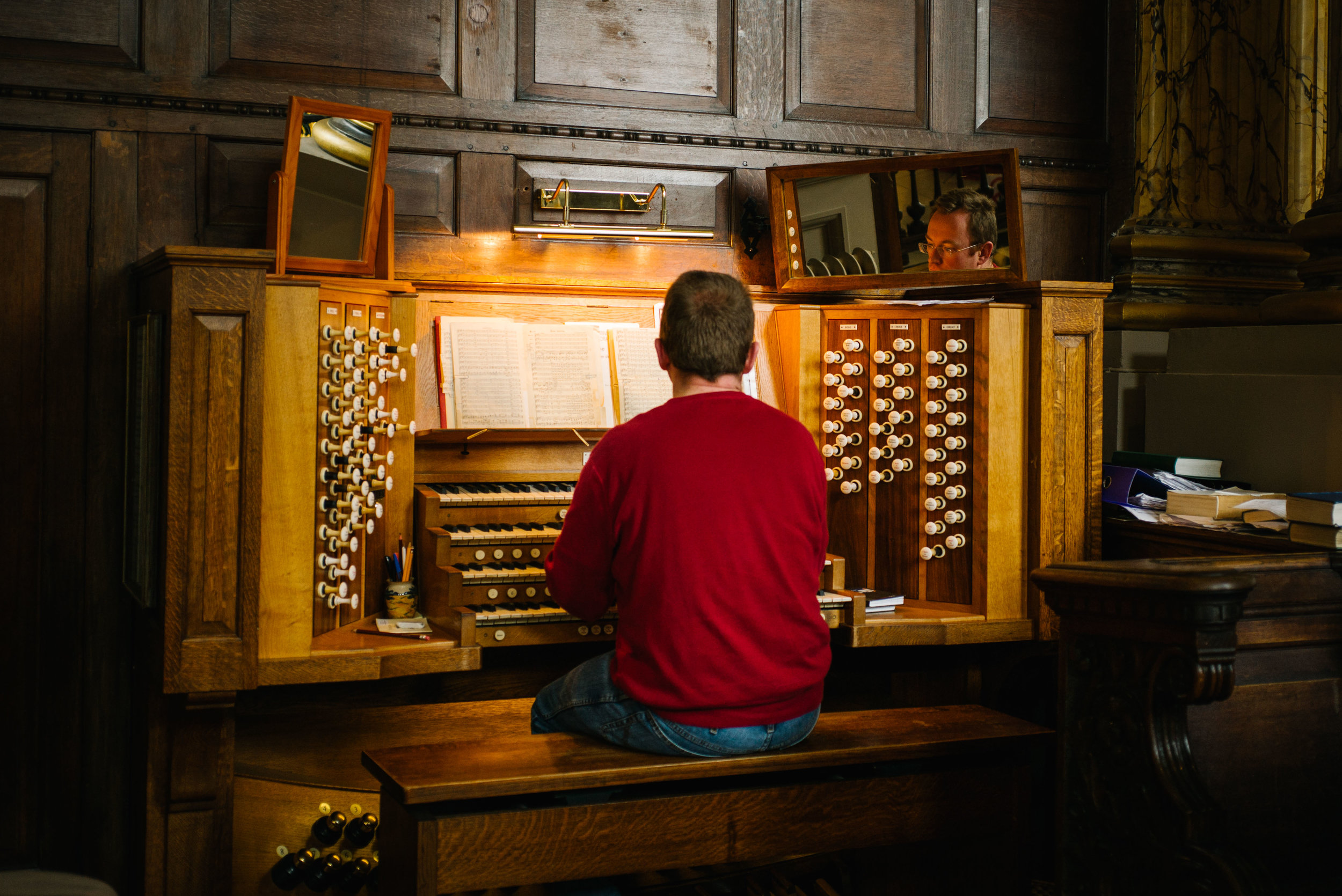 Practicing the organ - Clifford Darby 2017