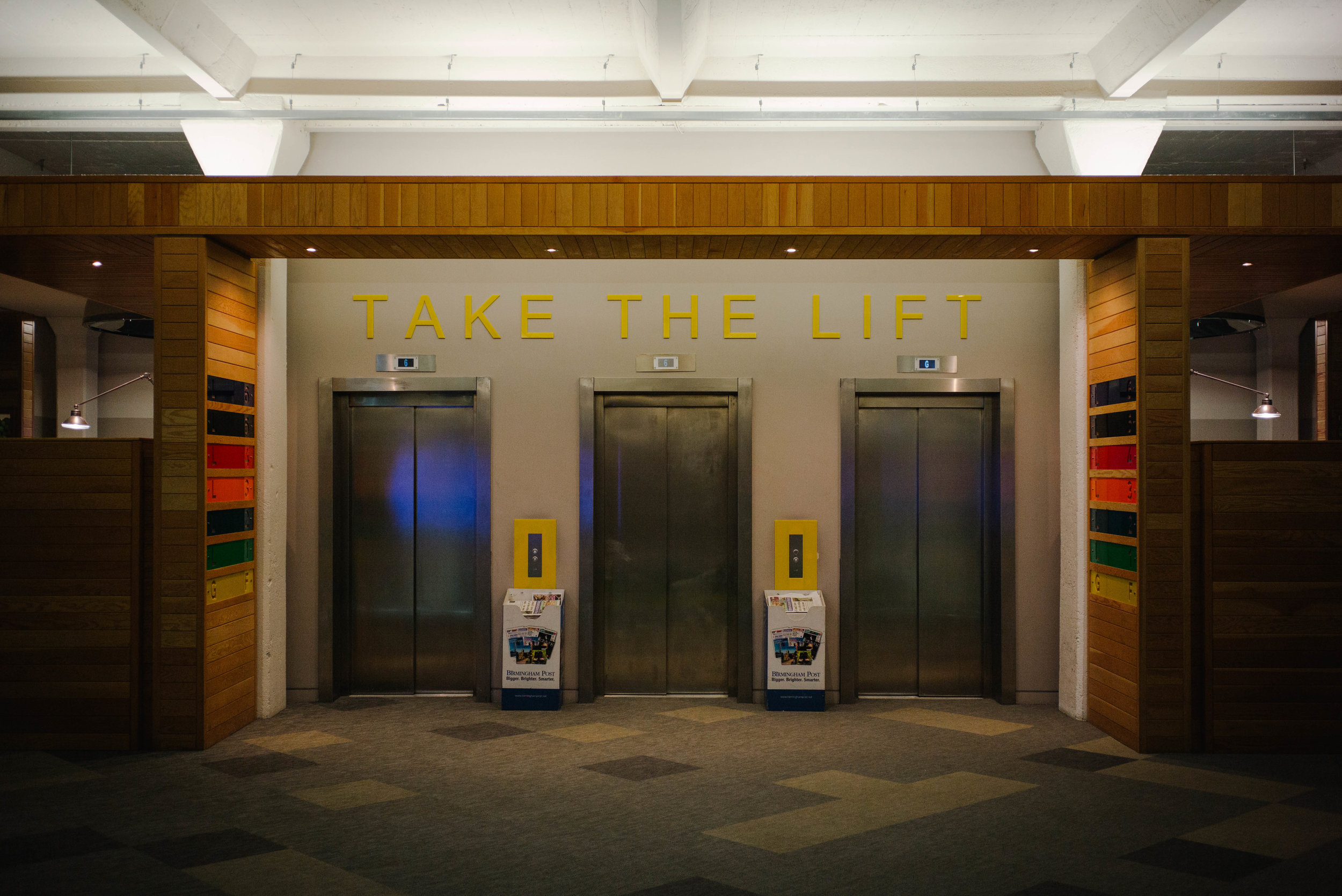 Take the lift - Clifford Darby 2017