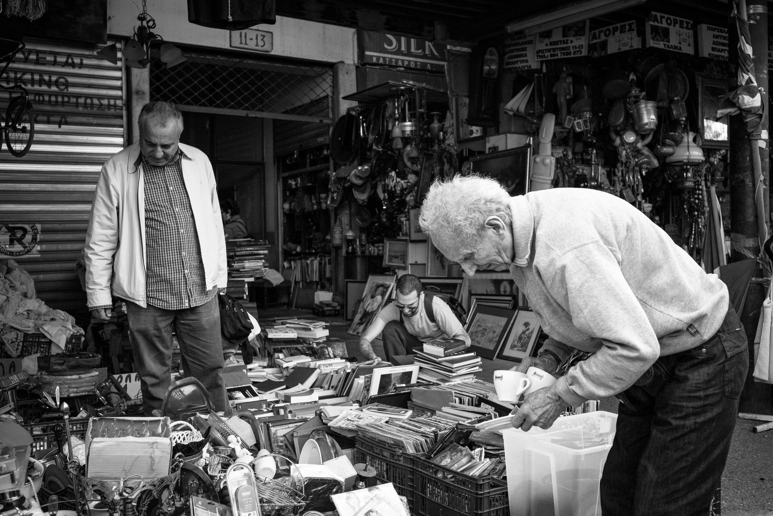 Monastiraki Flea Market, Athens. Greece. 2018.
