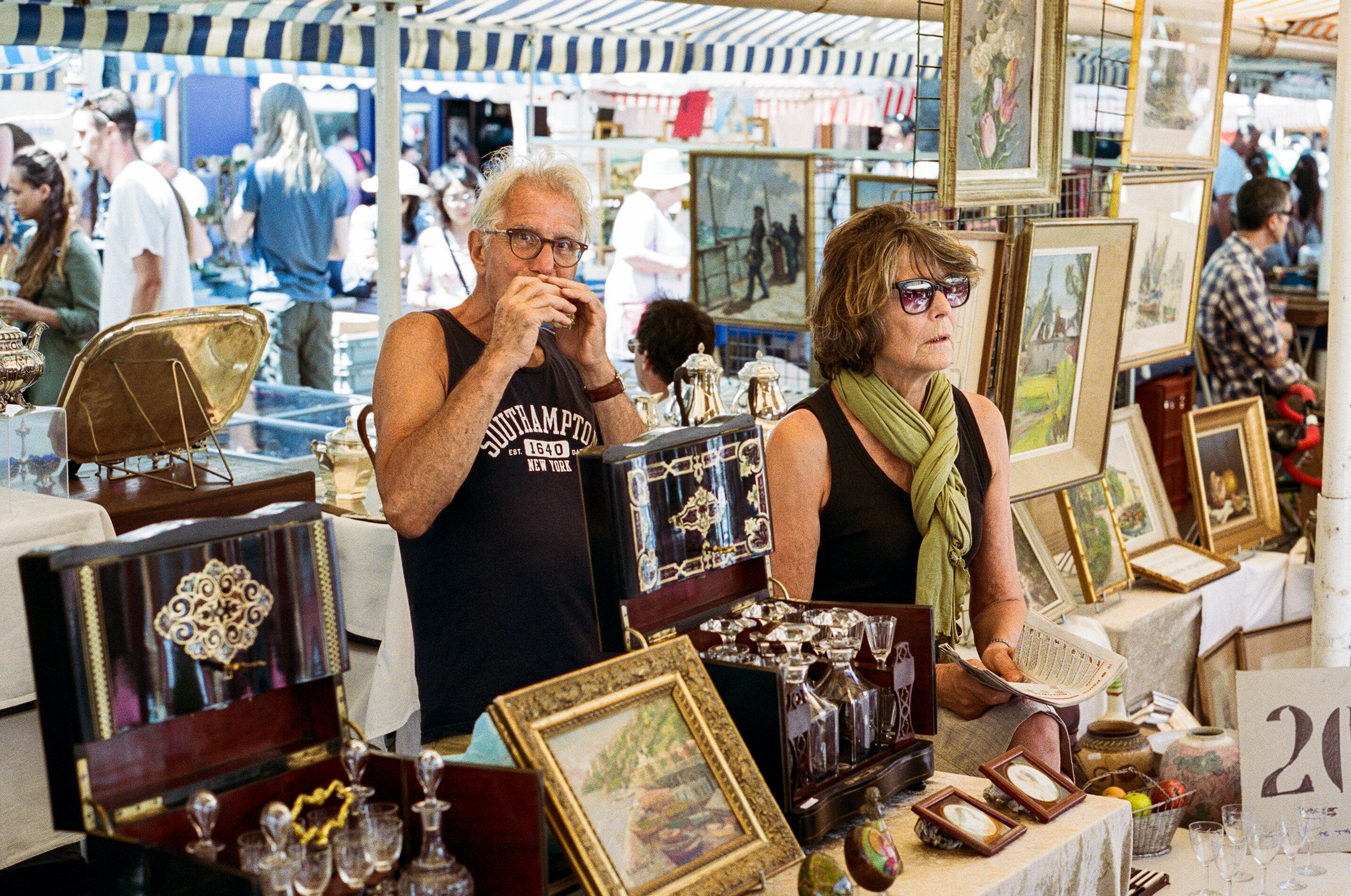 Cours Saleya Flea Market, Nice. France. 2017.