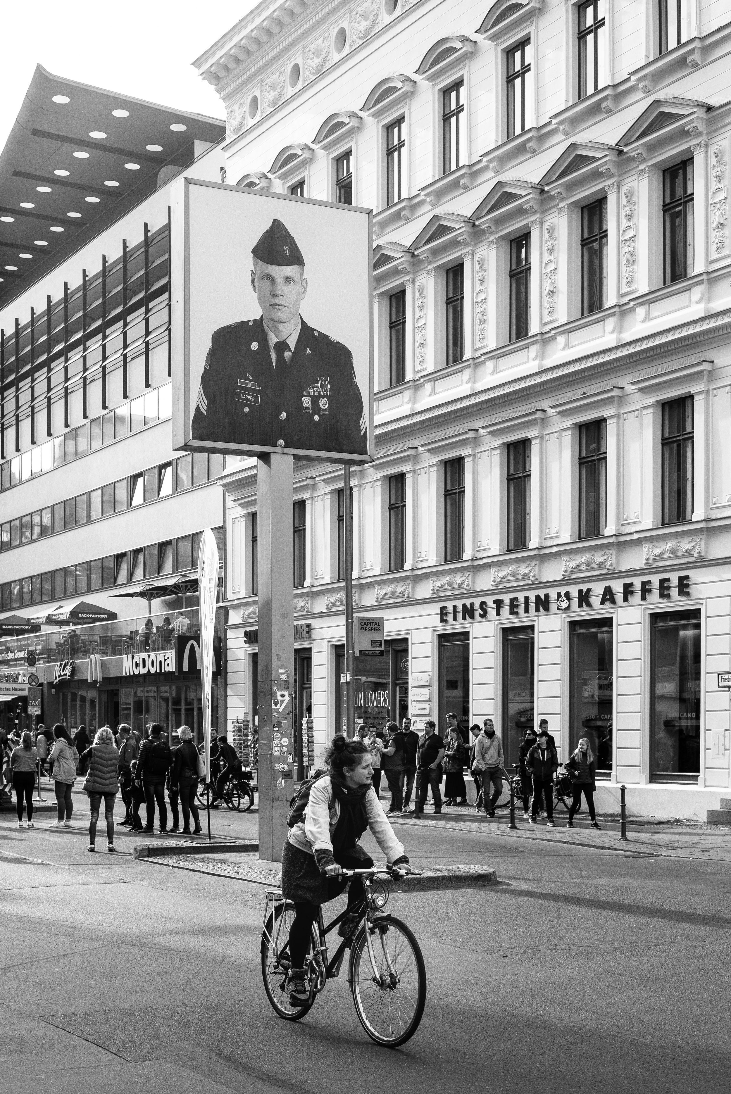 Checkpoint Charlie, Berlin. Germany. 2018.