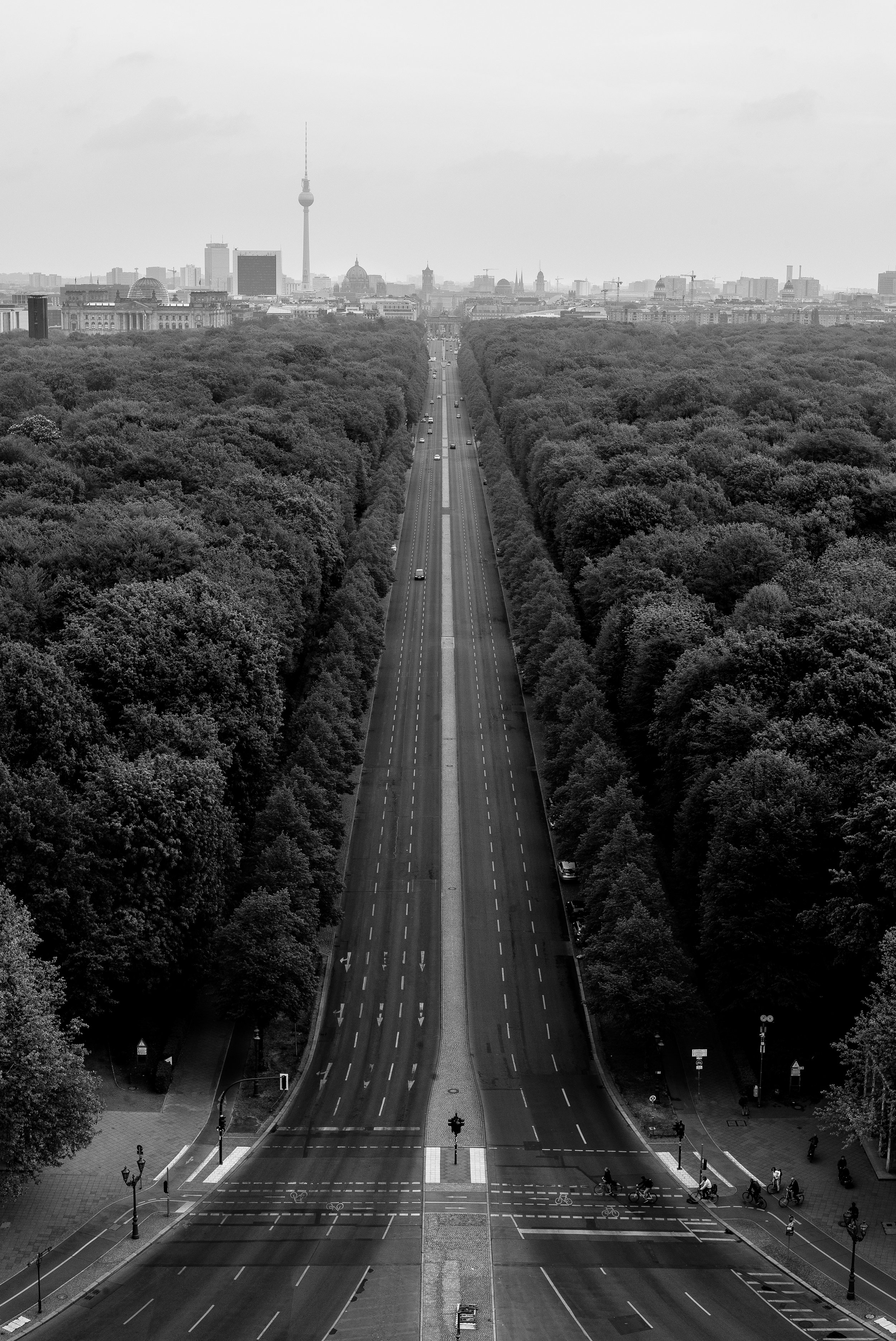 The view from the Victory Column, Berlin. Germany. 2019.