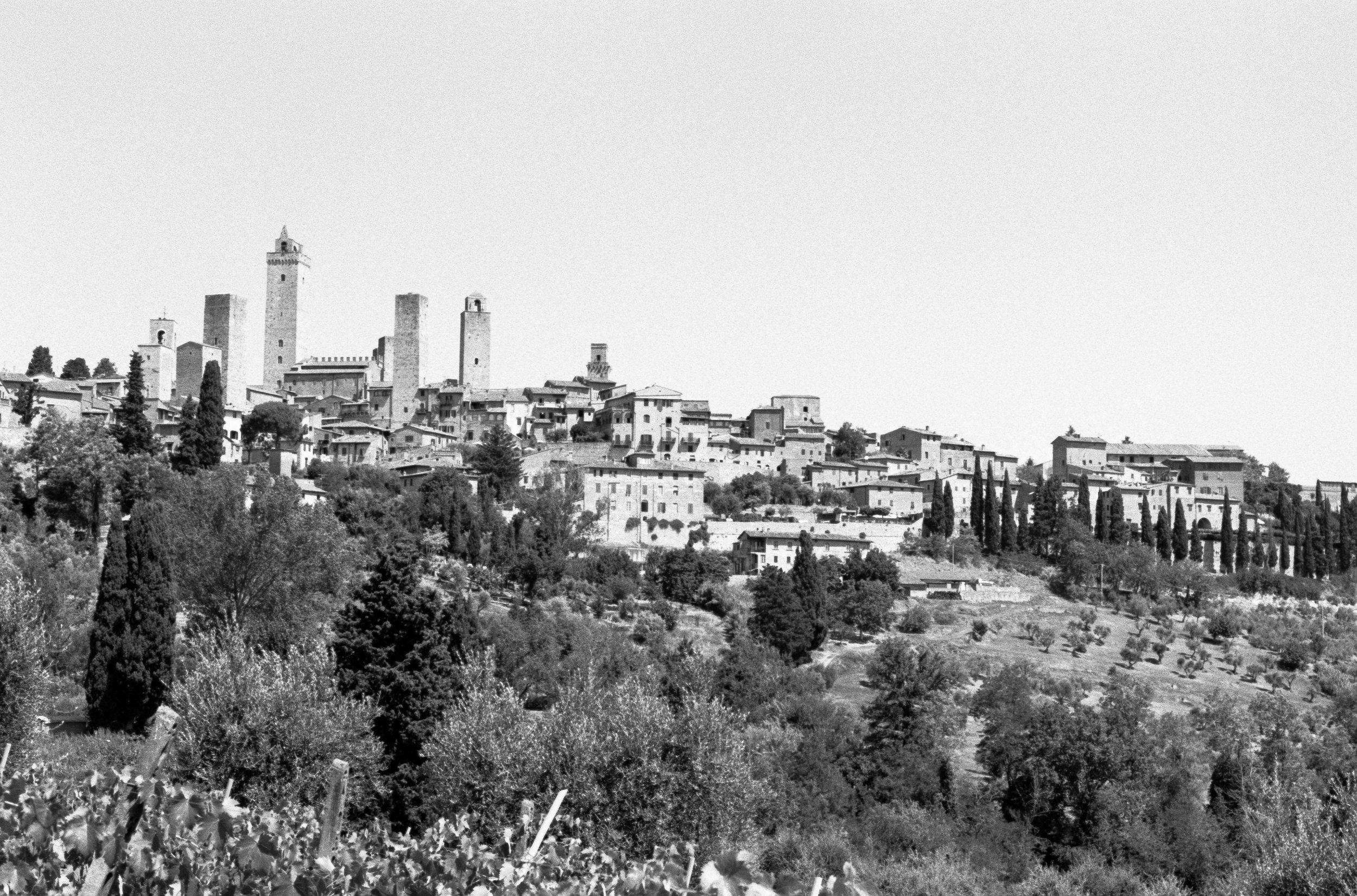 A skyline of medieval towers, San Gimignano. Italy. 2019.