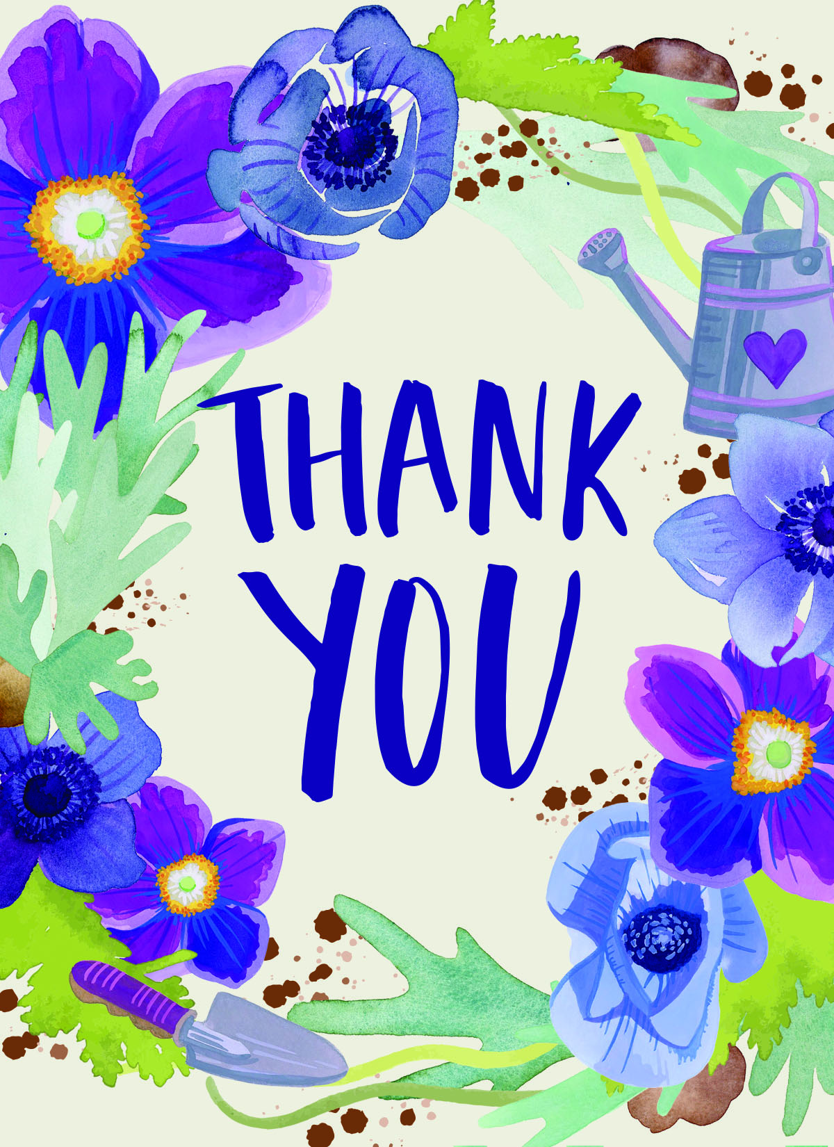 """Blank Thank You cards  5.5"""" x 4"""" folded: standard matte with white envelope   $2.00 each -or- 3 for $5.00  jackiejeanart@gmail.com for orders"""