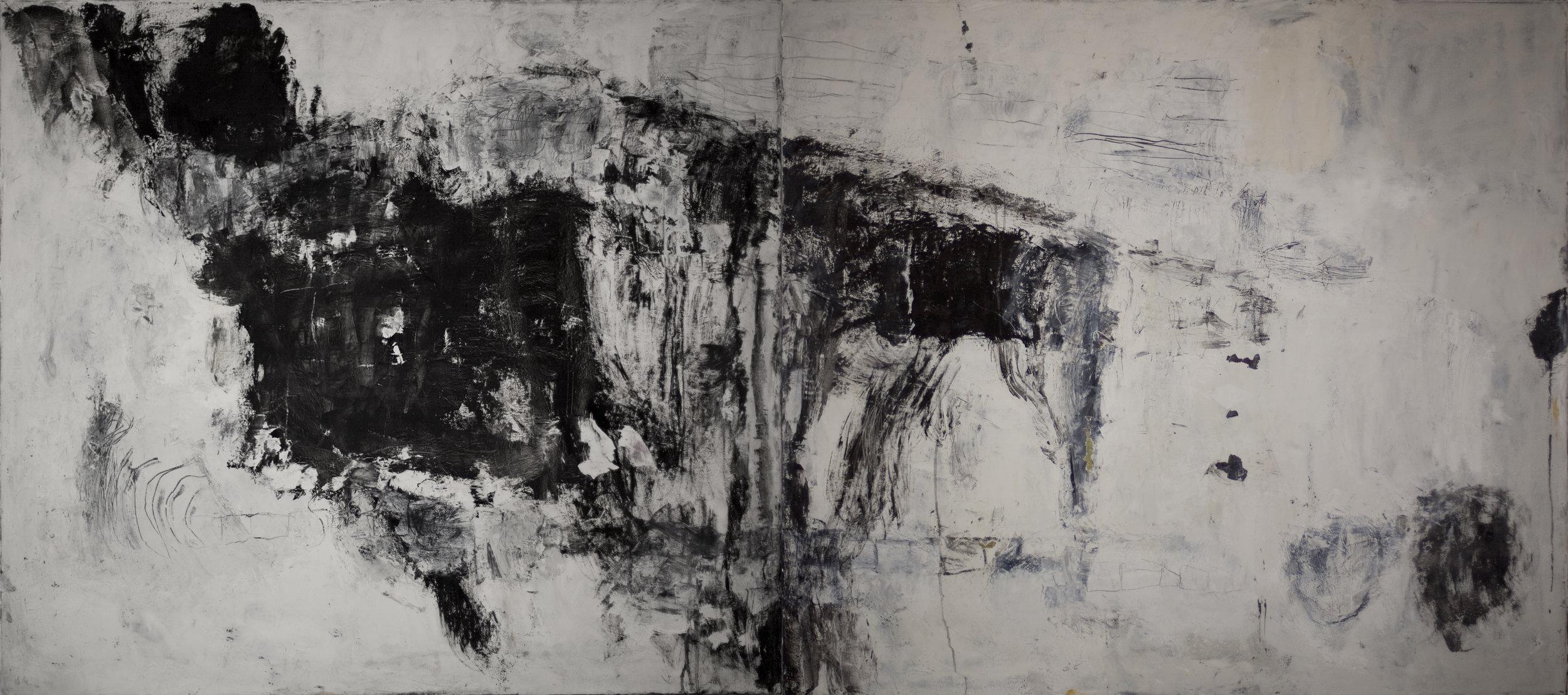 Break 48x100 in oil on canvas 2016