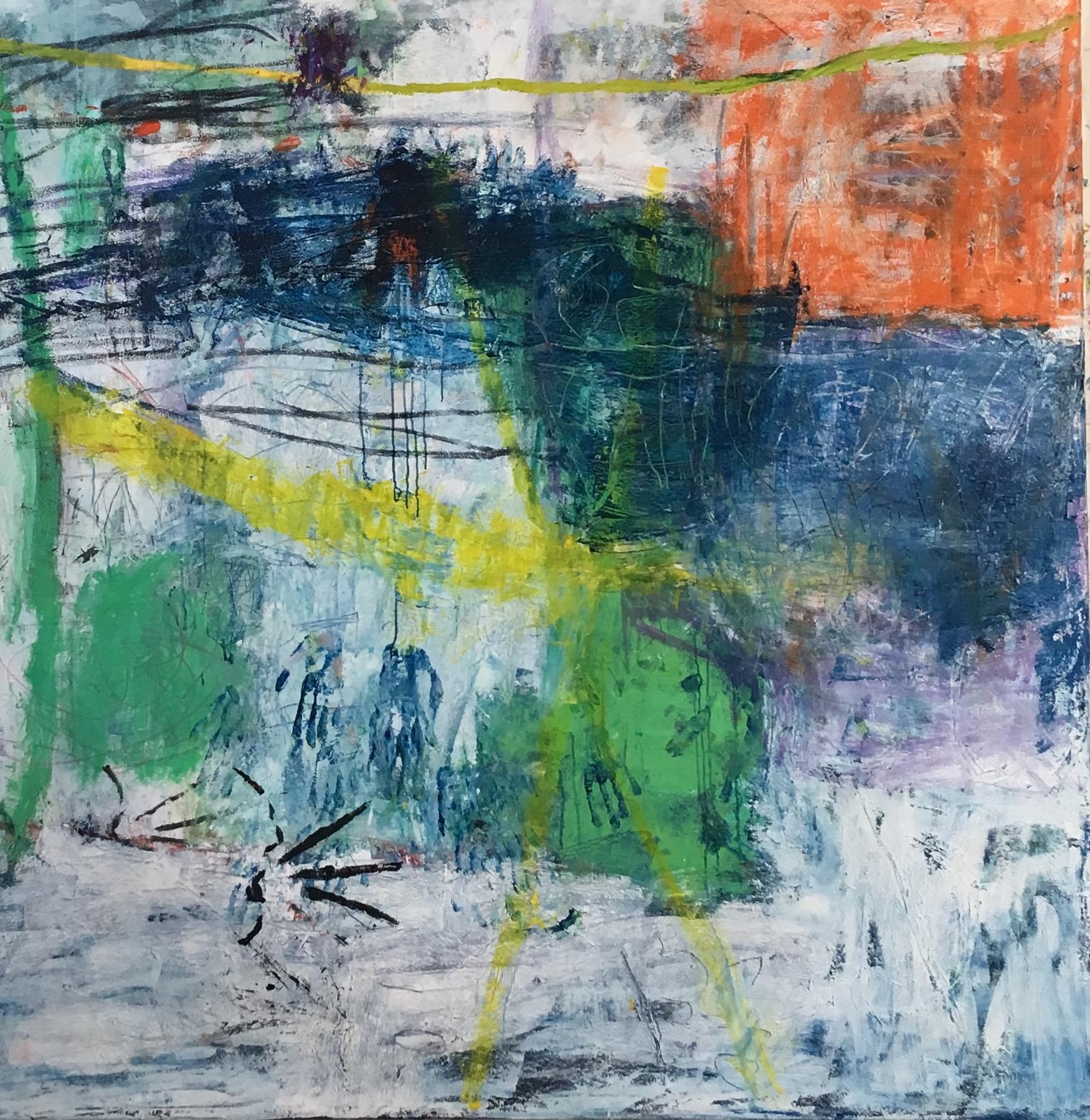Scrape 72x72 in oil on canvas 2019