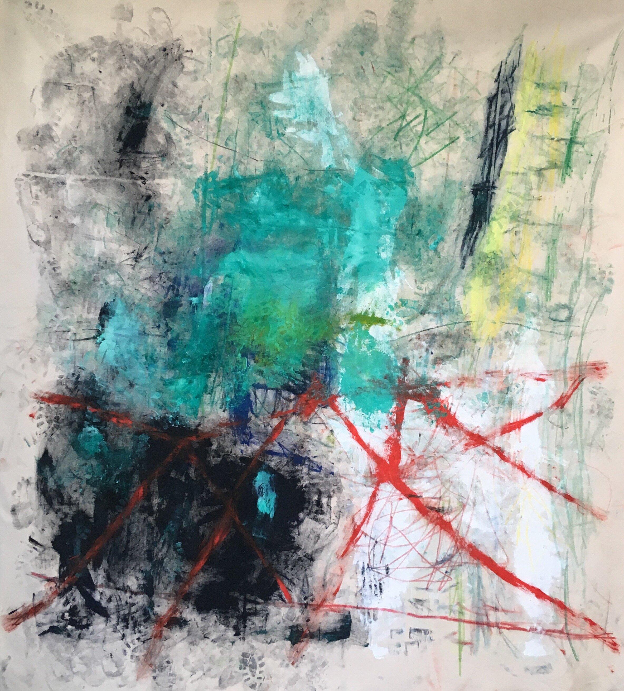 tierra 90x85 in oil on canvas 2019