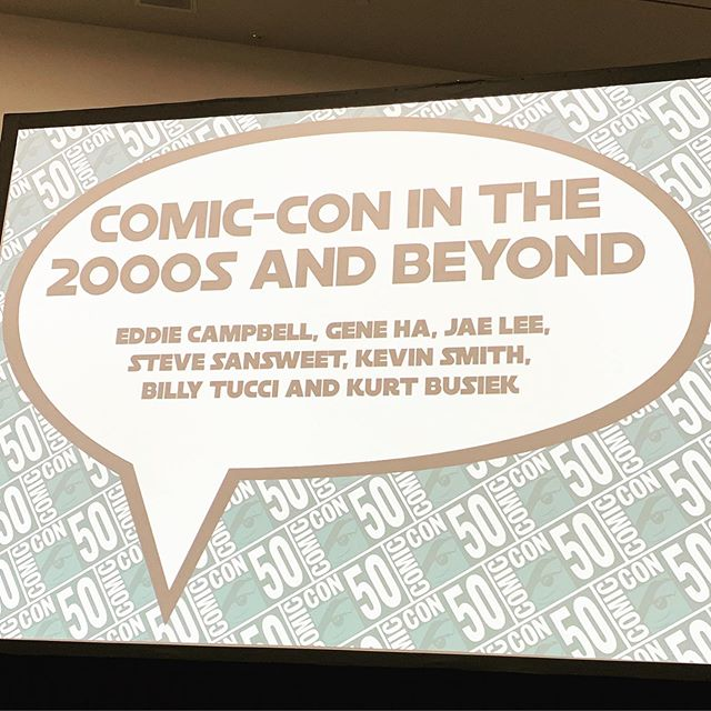 First and probably only panel I'm attending this year. Anyone shocked @thatkevinsmith is on the panel?🤔#sdcc2019