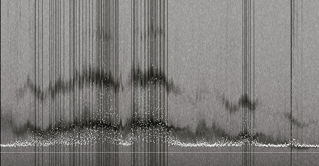 Spectrogram of a signal captured from a kite line.