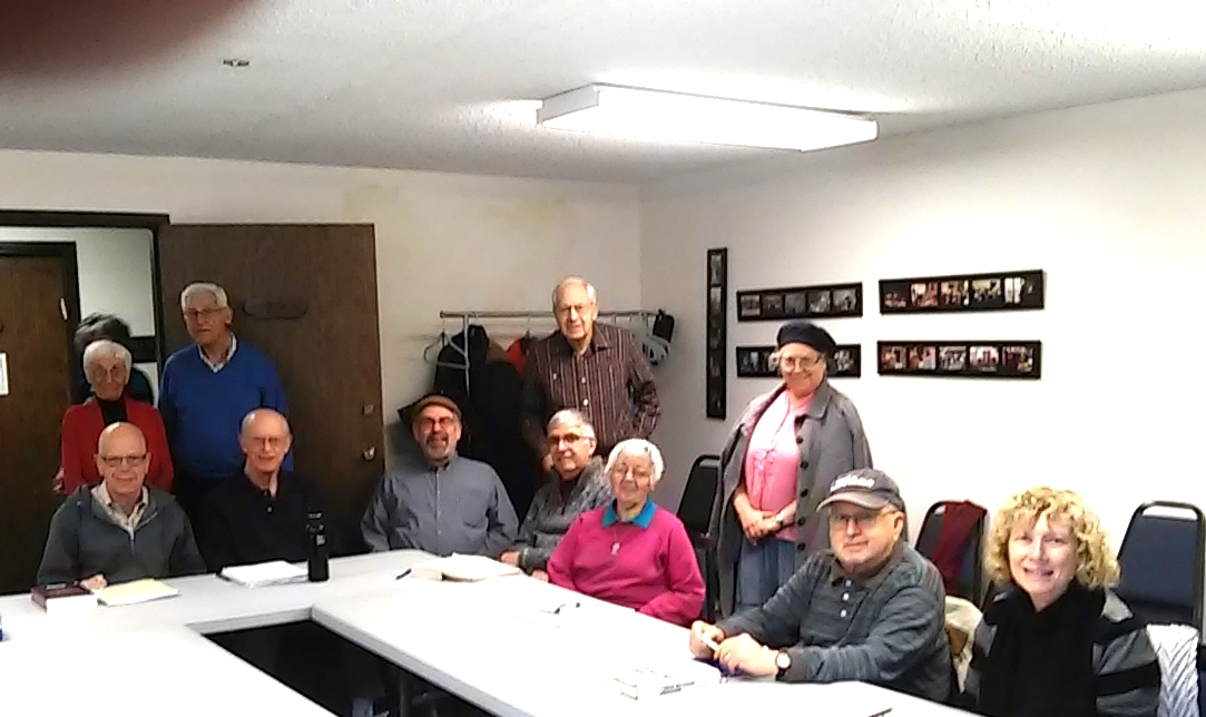 Yiddish group at Kol Shalom Center, 2014