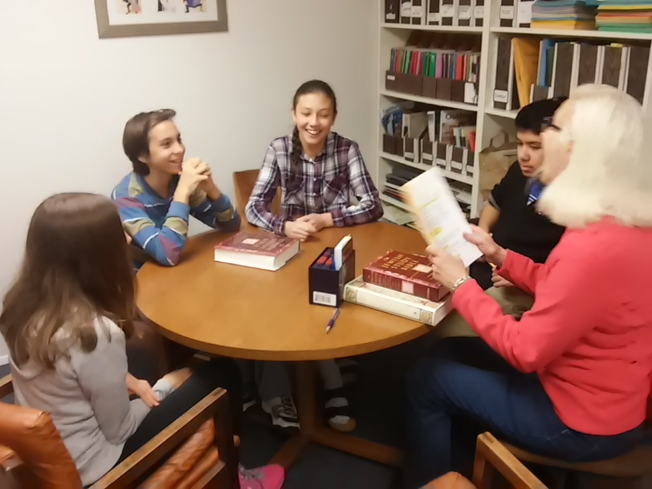 Second year mitzvah class with Mary raskin