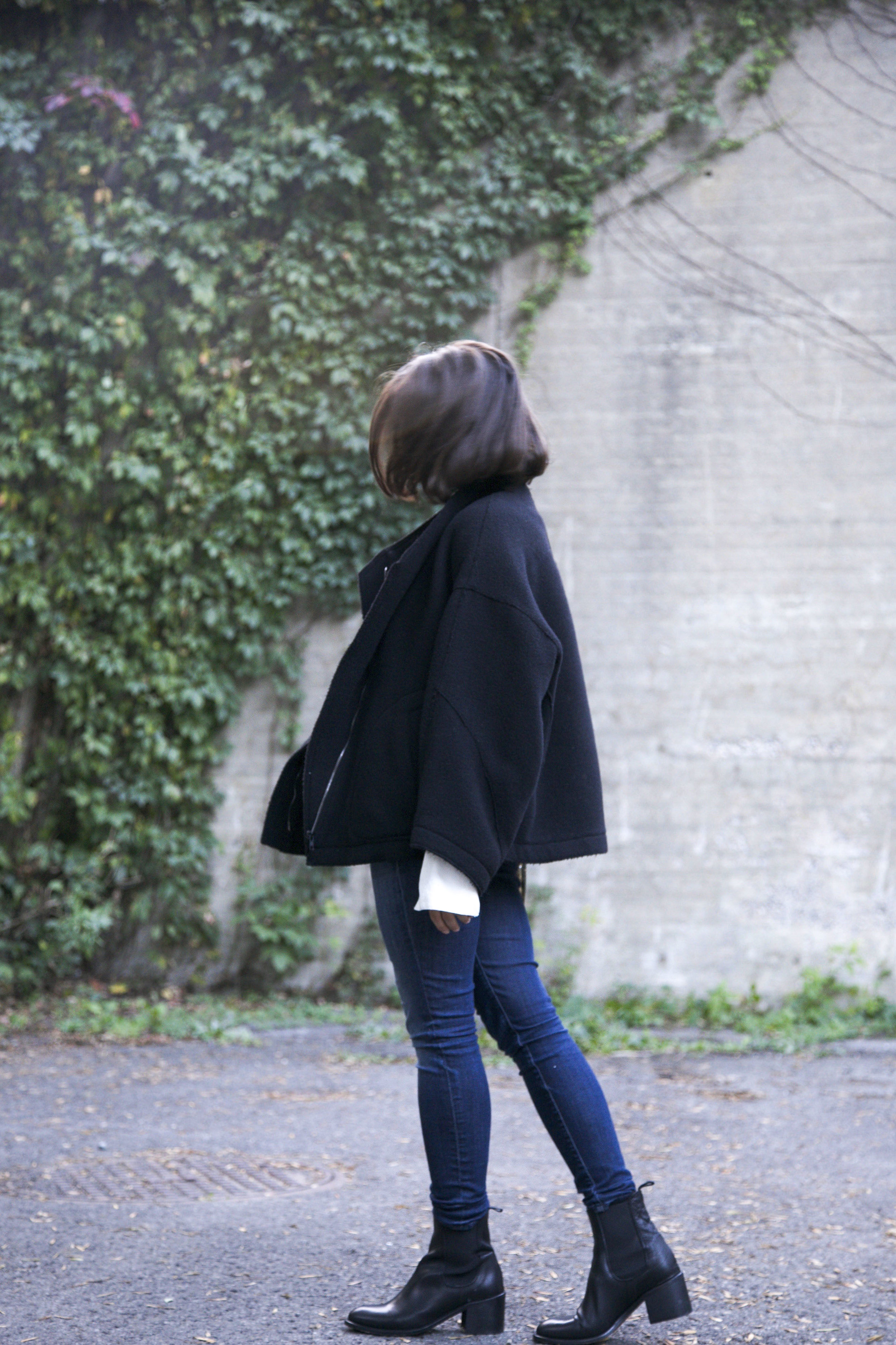 H&M Studio A/W Blouse and Bag, Frame Jeans, Damir Doma Coat, L'intervalle Shoes