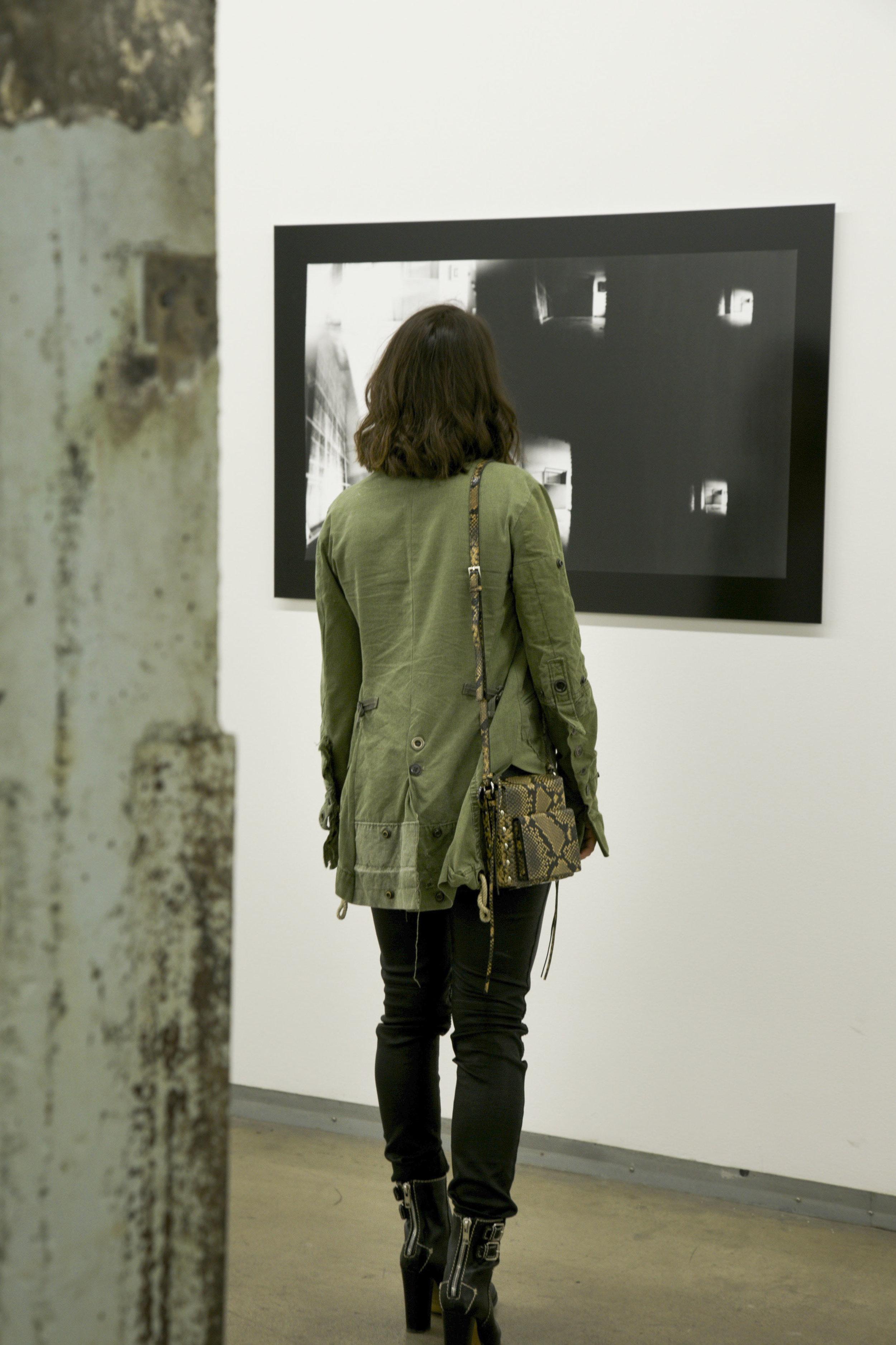 Greg Lauren Jacket, Studio A/W Bag, Club Monaco T-shirt, Robin's Jean Pants, Chloe Boots.