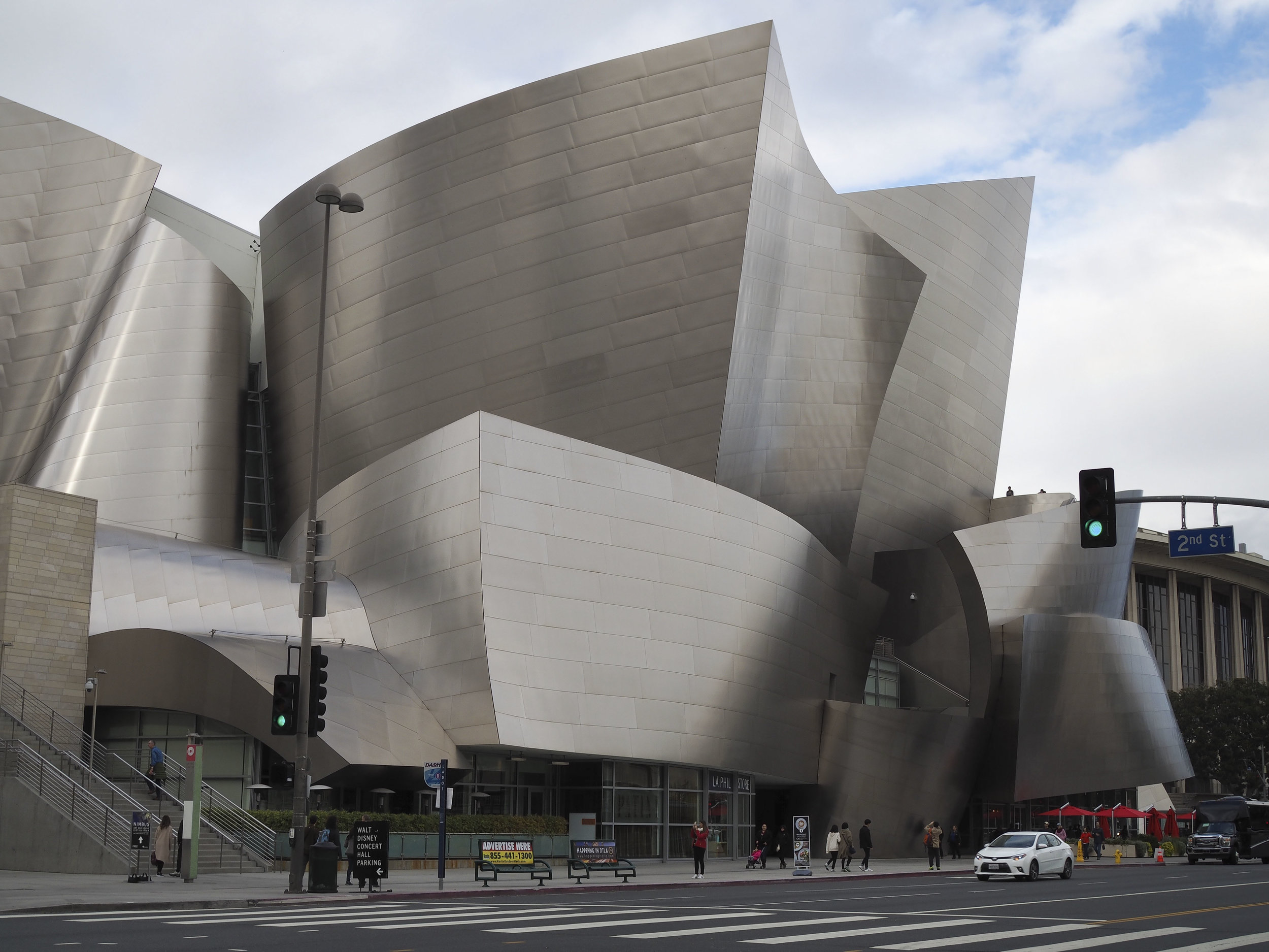 The beautiful Disney Concert Hall.