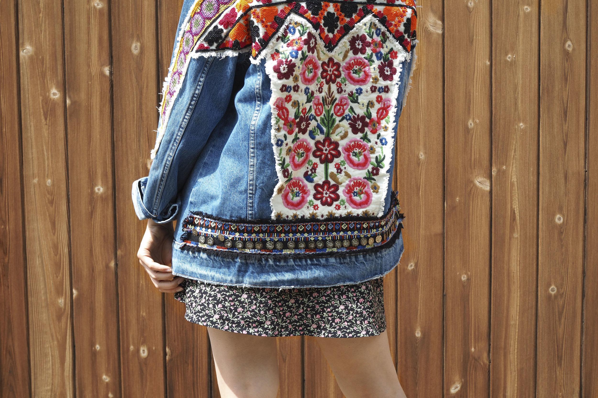 Zara Jacket, Agnes B. Skirt and Top.