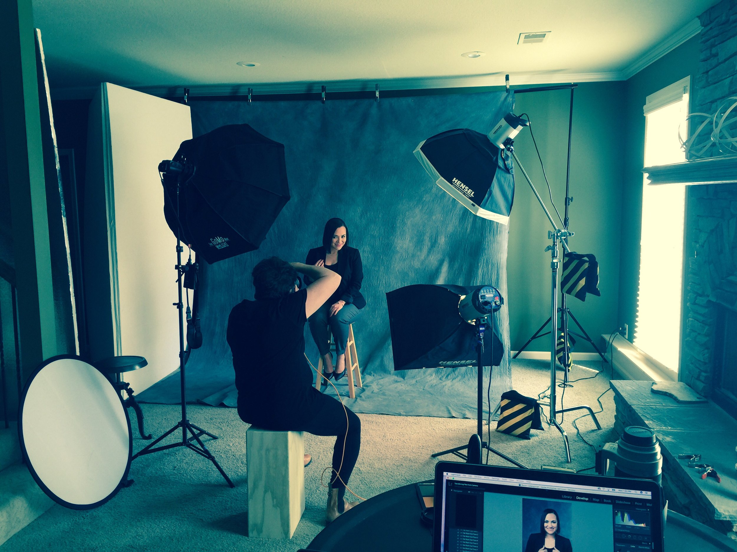 Kimberly Pimentel of Pimentel Portfolio shooting client images.